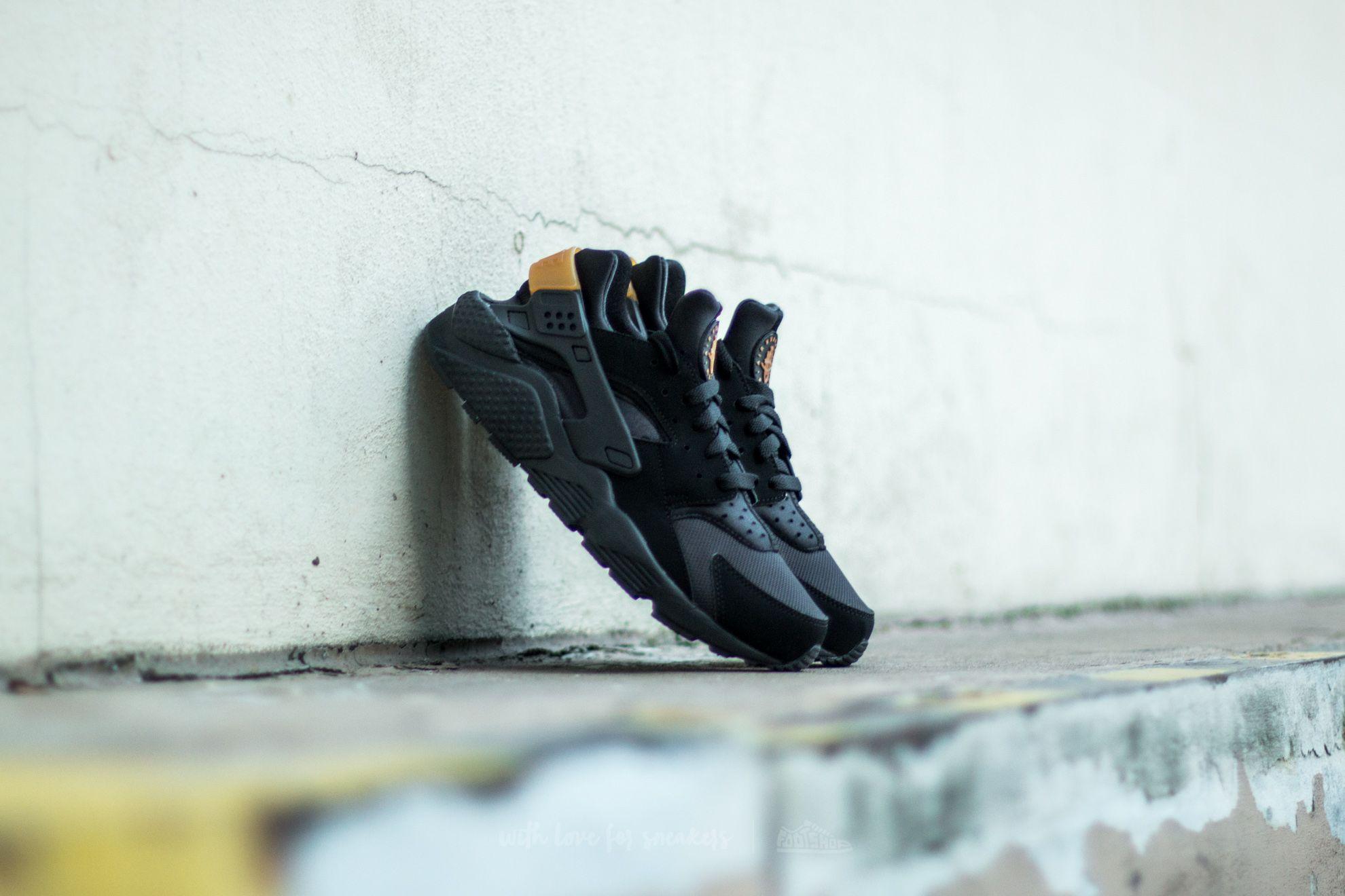 Nike Air Huarache Black/ Metallic Gold Footshop – FR