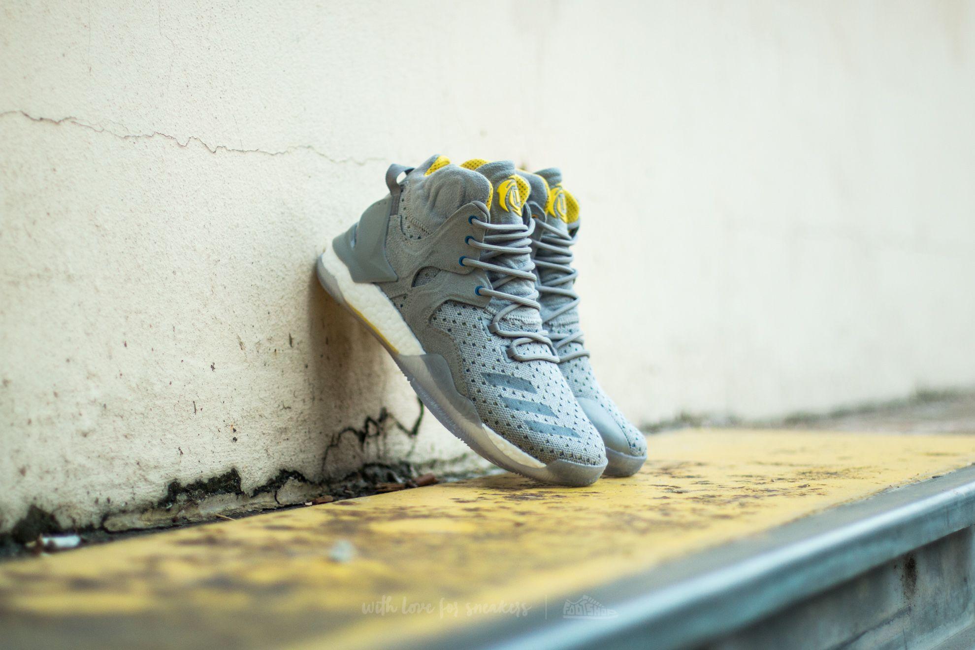 adidas Consortium x Sneakersnstuff D Rose 7 Primeknit Grey/ Core Yellow