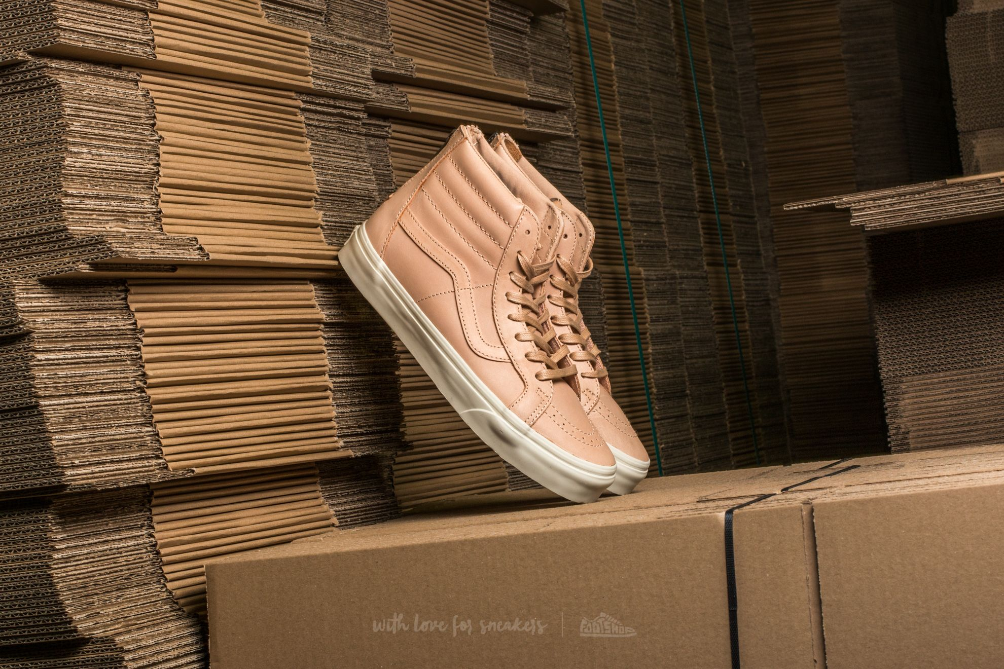 Sk8-Hi Reissue Zip (Veggie Tan Leather) Tan