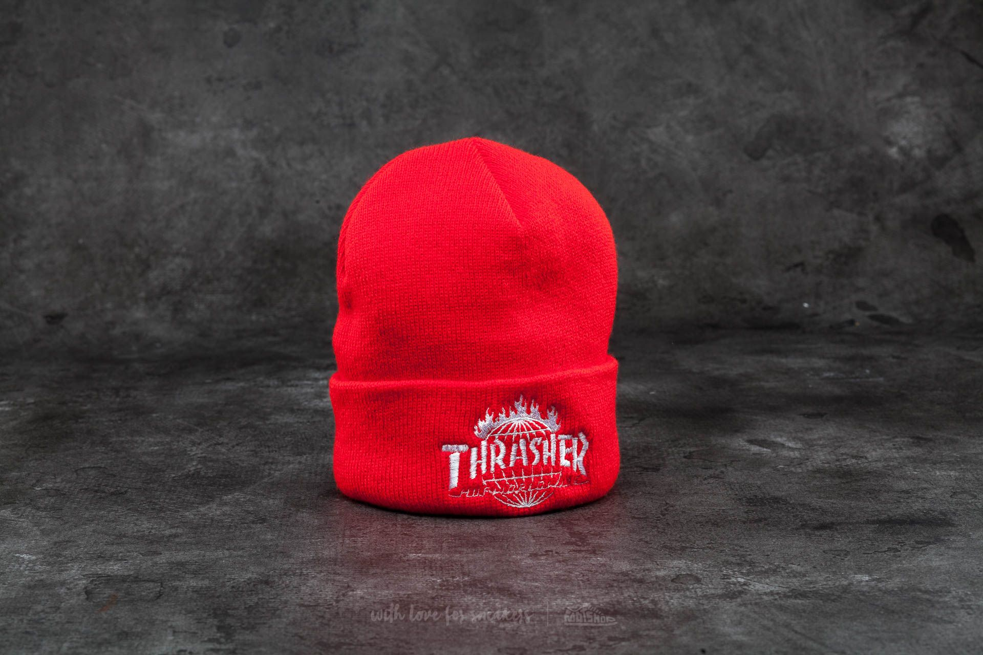 HUF x Thrasher Tour De Stoops Beanie Red Footshop – FR