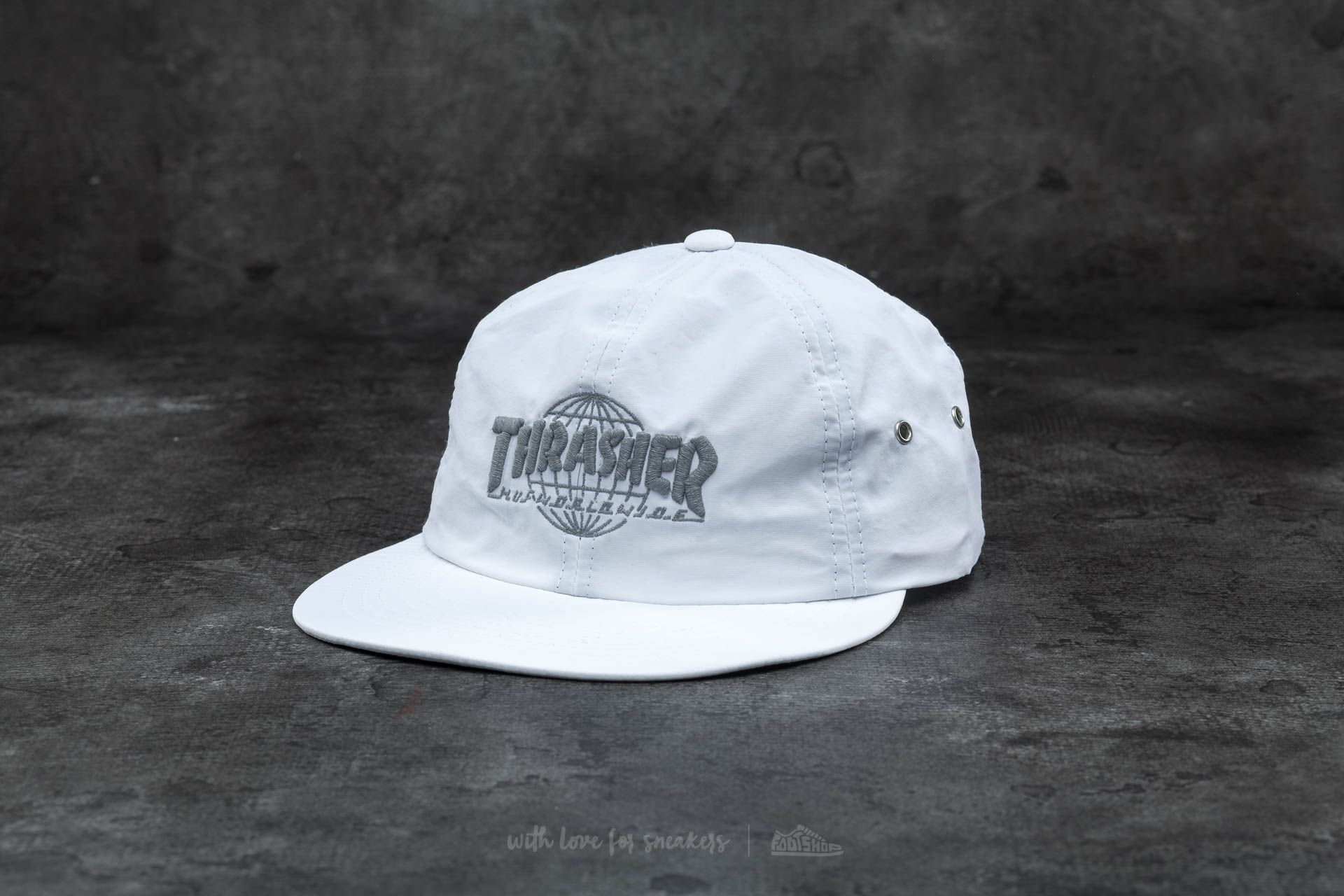 HUF x Thrasher Tour De Stoops 6 Panel Cap White
