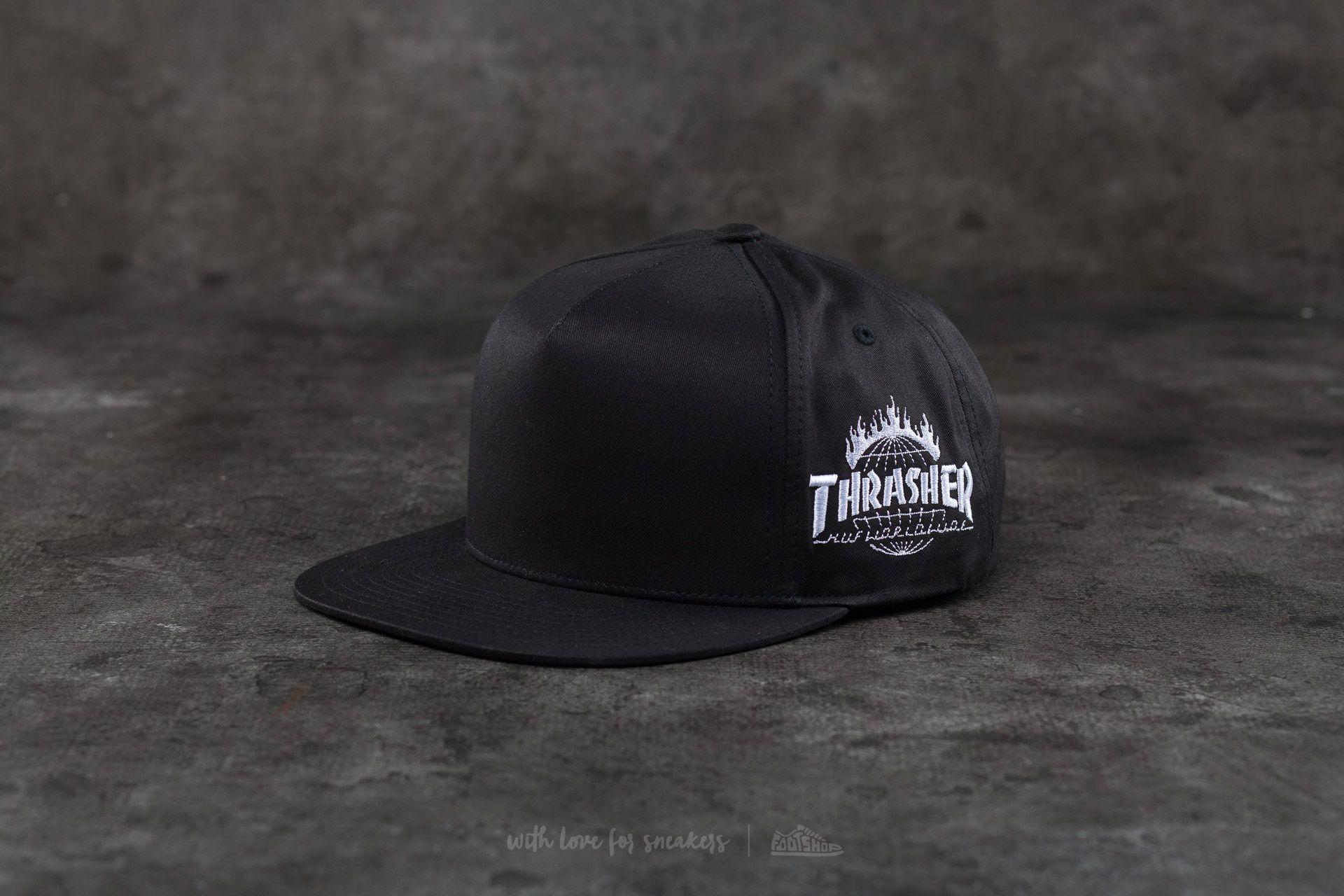 HUF x Thrasher Tour De Stoops Snapback Black