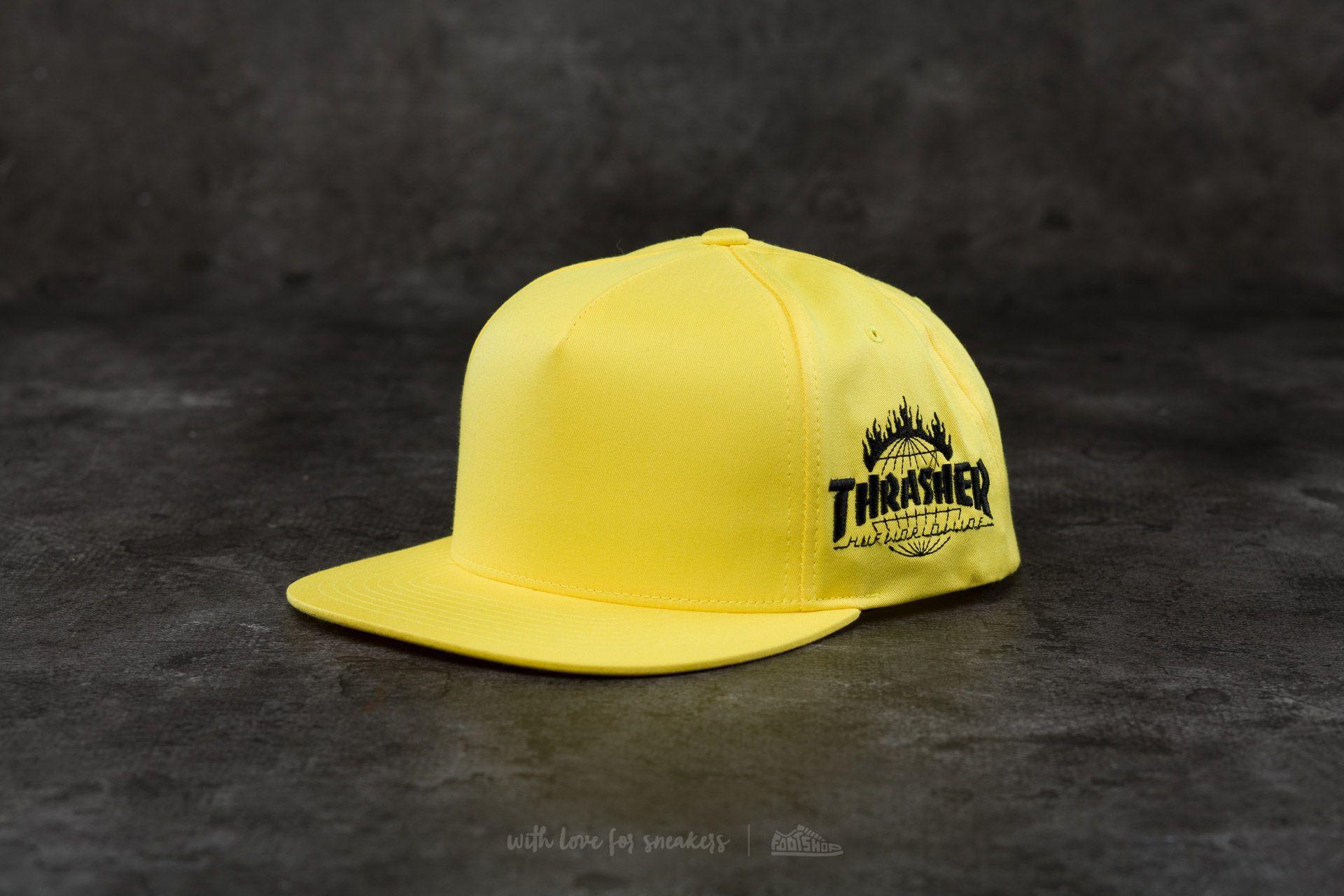 HUF x Thrasher Tour De Stoops Snapback Yellow