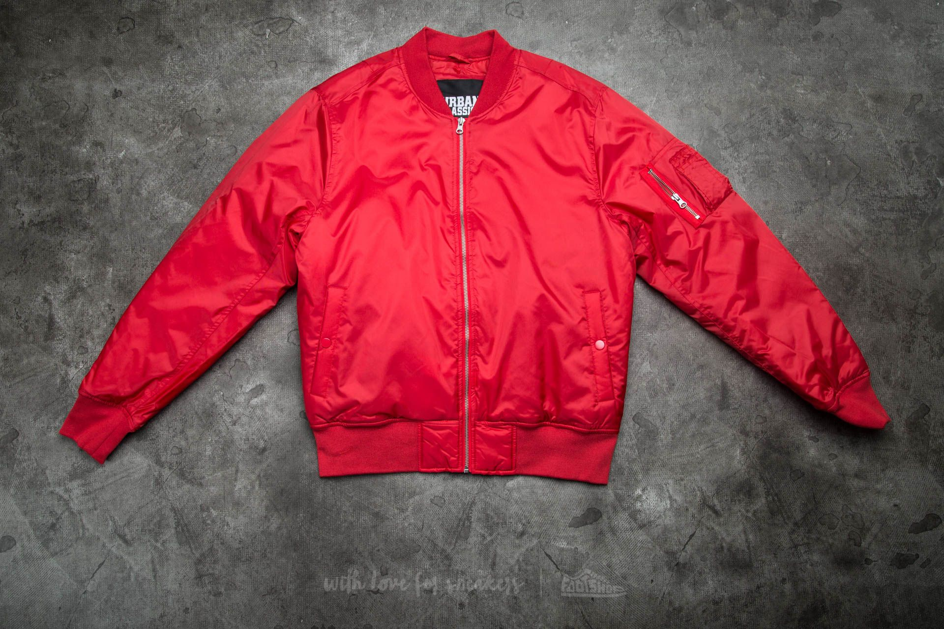 Urban Classics Basic Bomber Jacket Fire Red
