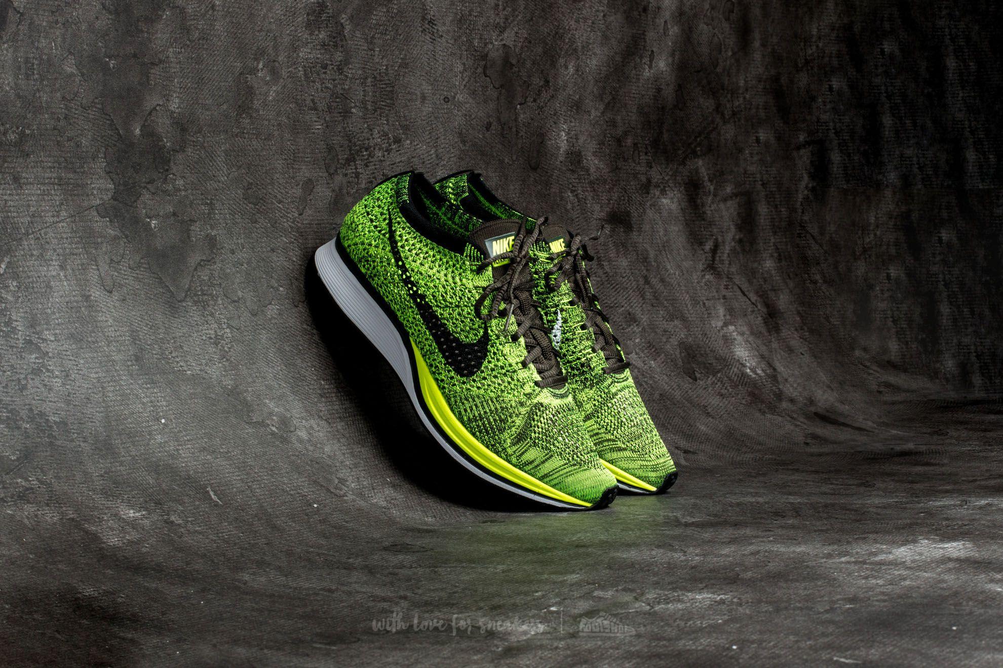 Nike Flyknit Racer Volt/ Black-Sequoia