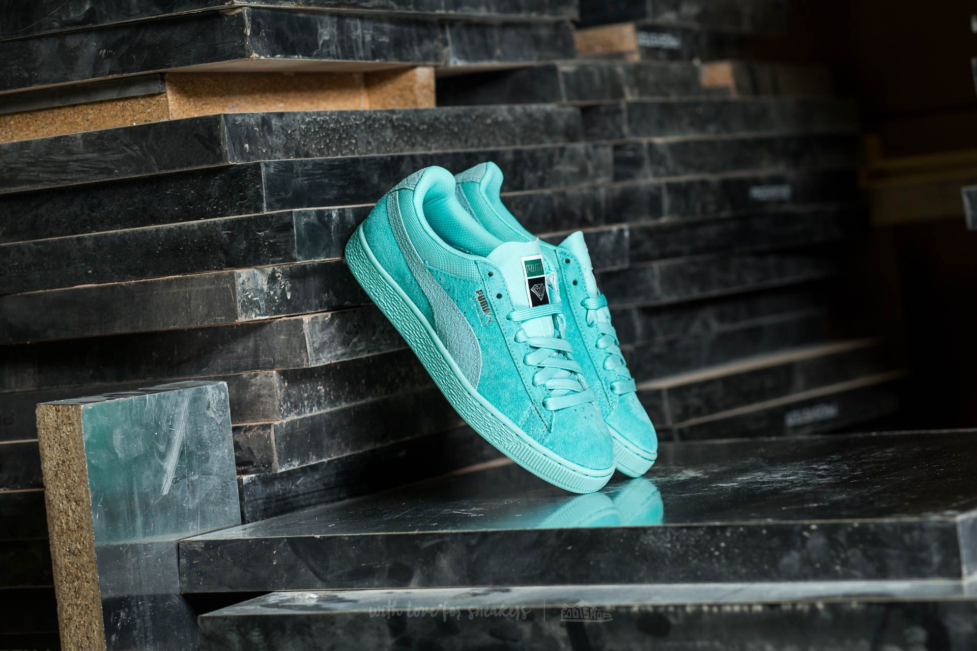 Puma Classic x Diamond Supply Co. Aruba Blue- Aruba Blue Footshop – FR