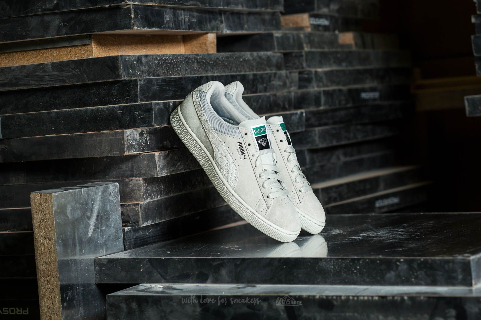 Puma Classic x Diamond Supply Co. Puma White-Puma White
