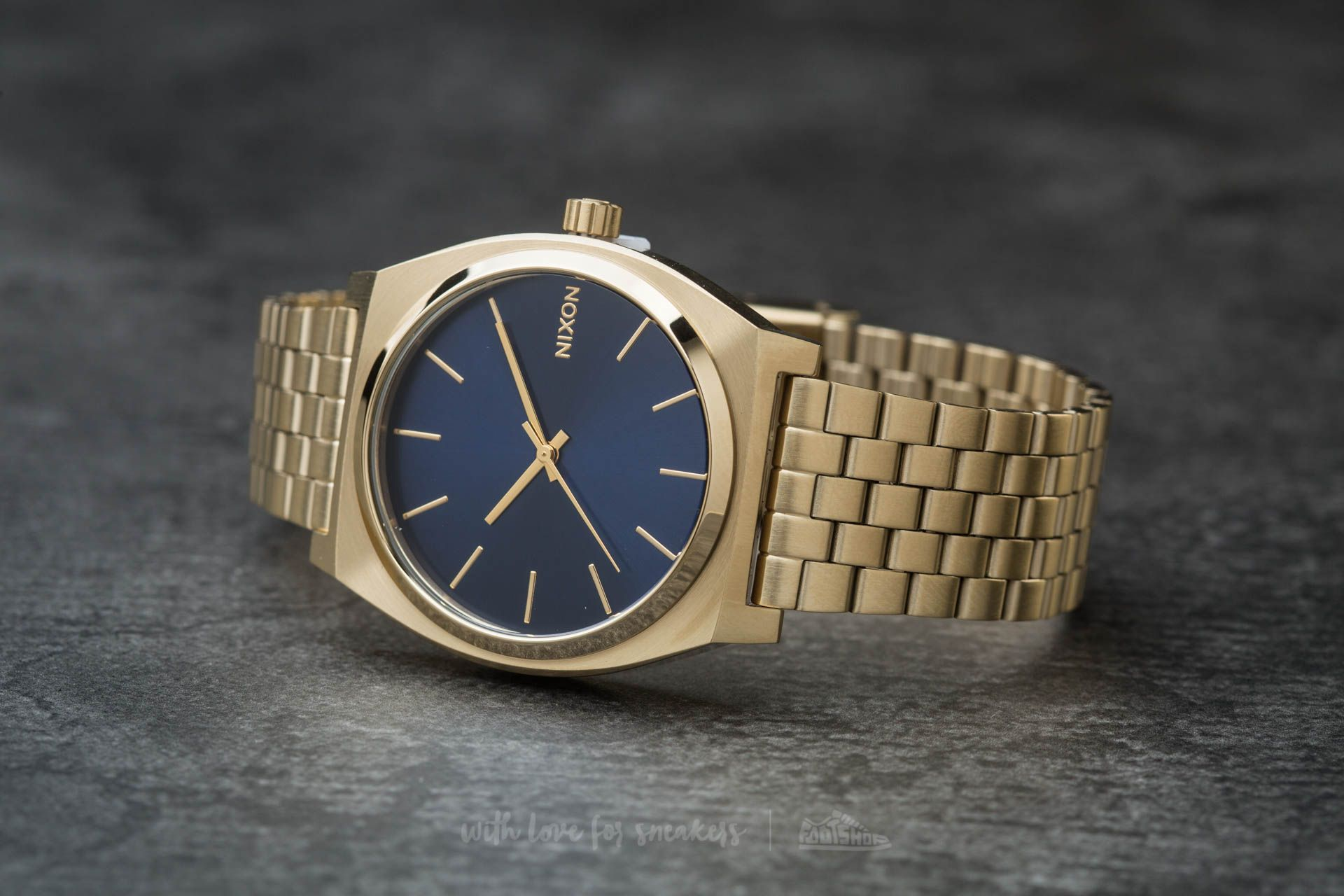 Nixon Time Teller All Light Gold/ Cobalt Footshop – FR