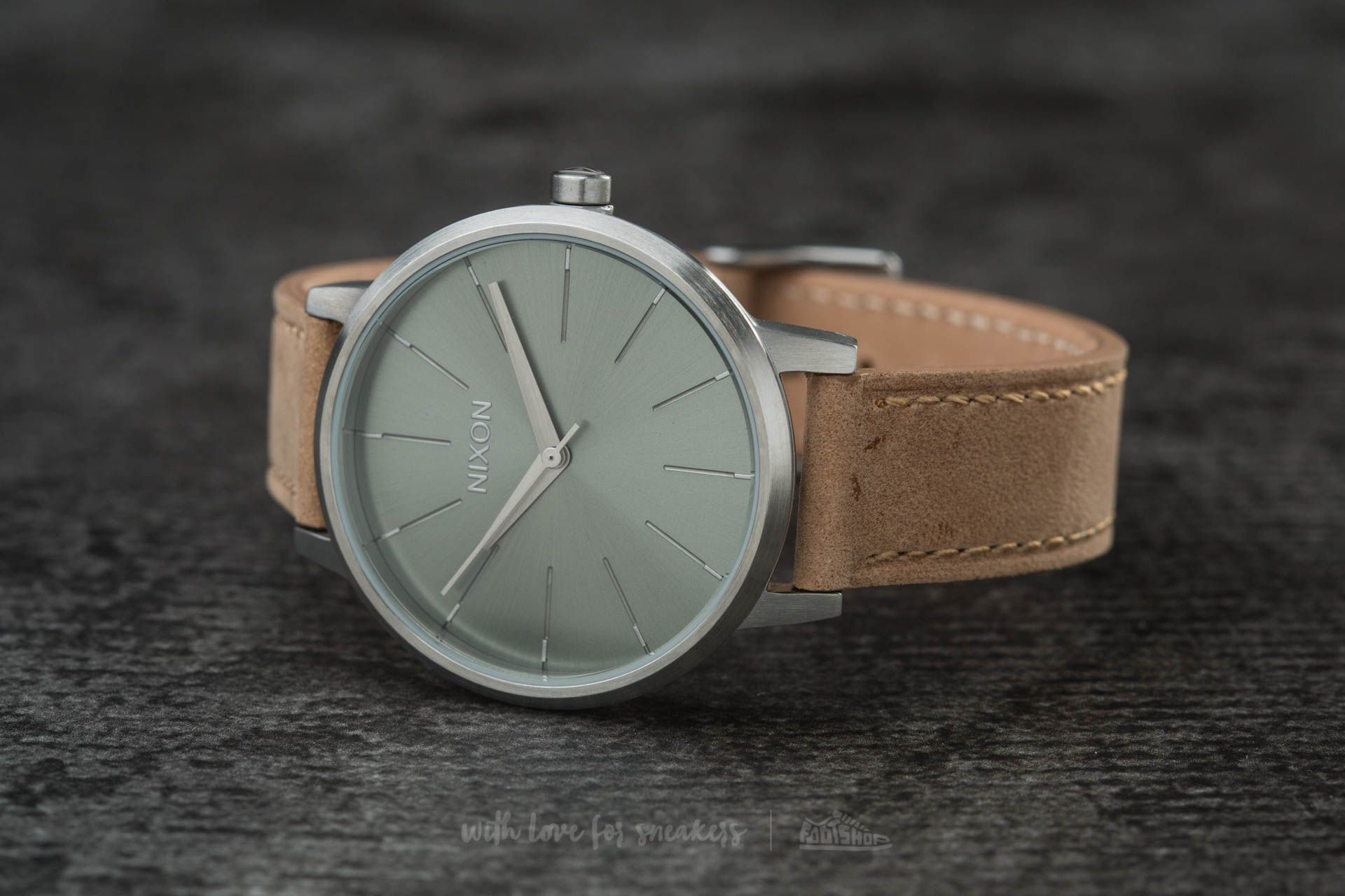 Nixon Kensington Leather Saddle/ Sage