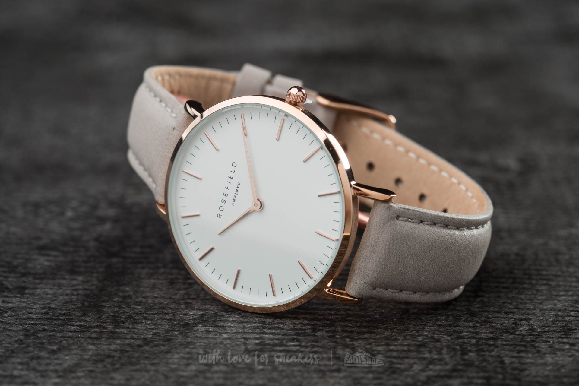 Rosefield The Bowery Rosegold White/ Grey