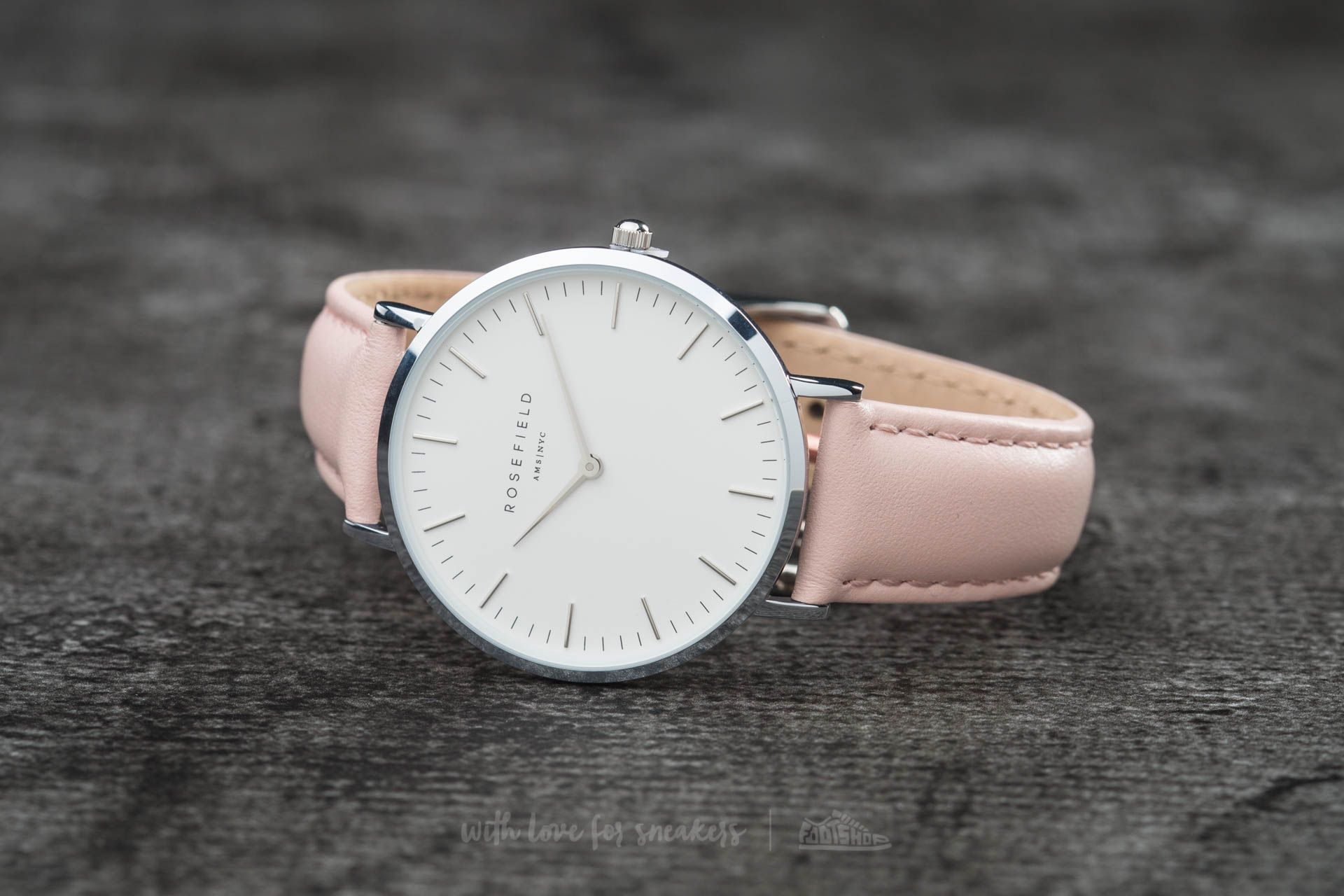 Rosefield The Bowery Silver White/ Pink