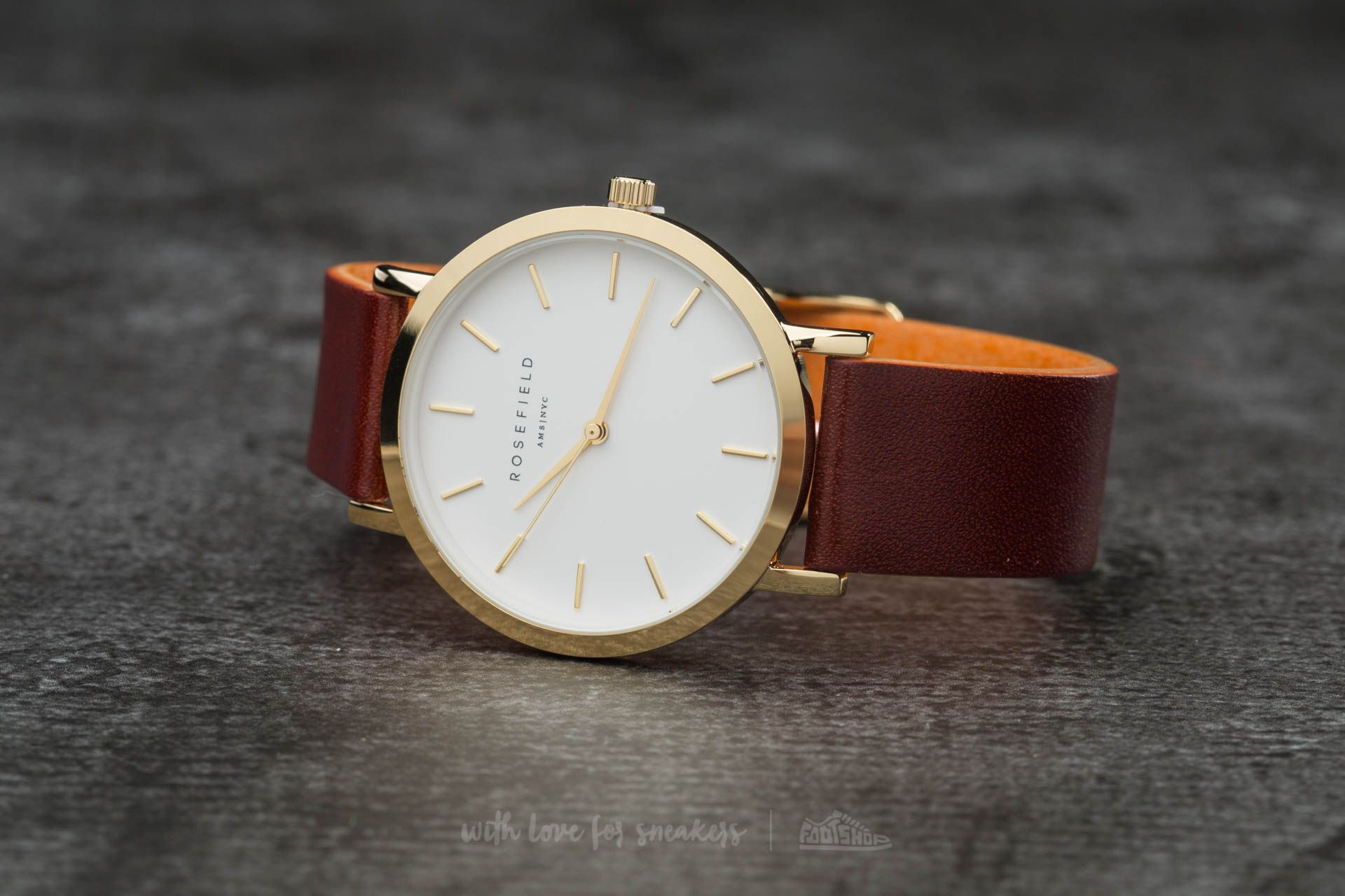 Rosefield The Gramercy Gold White/ Brown