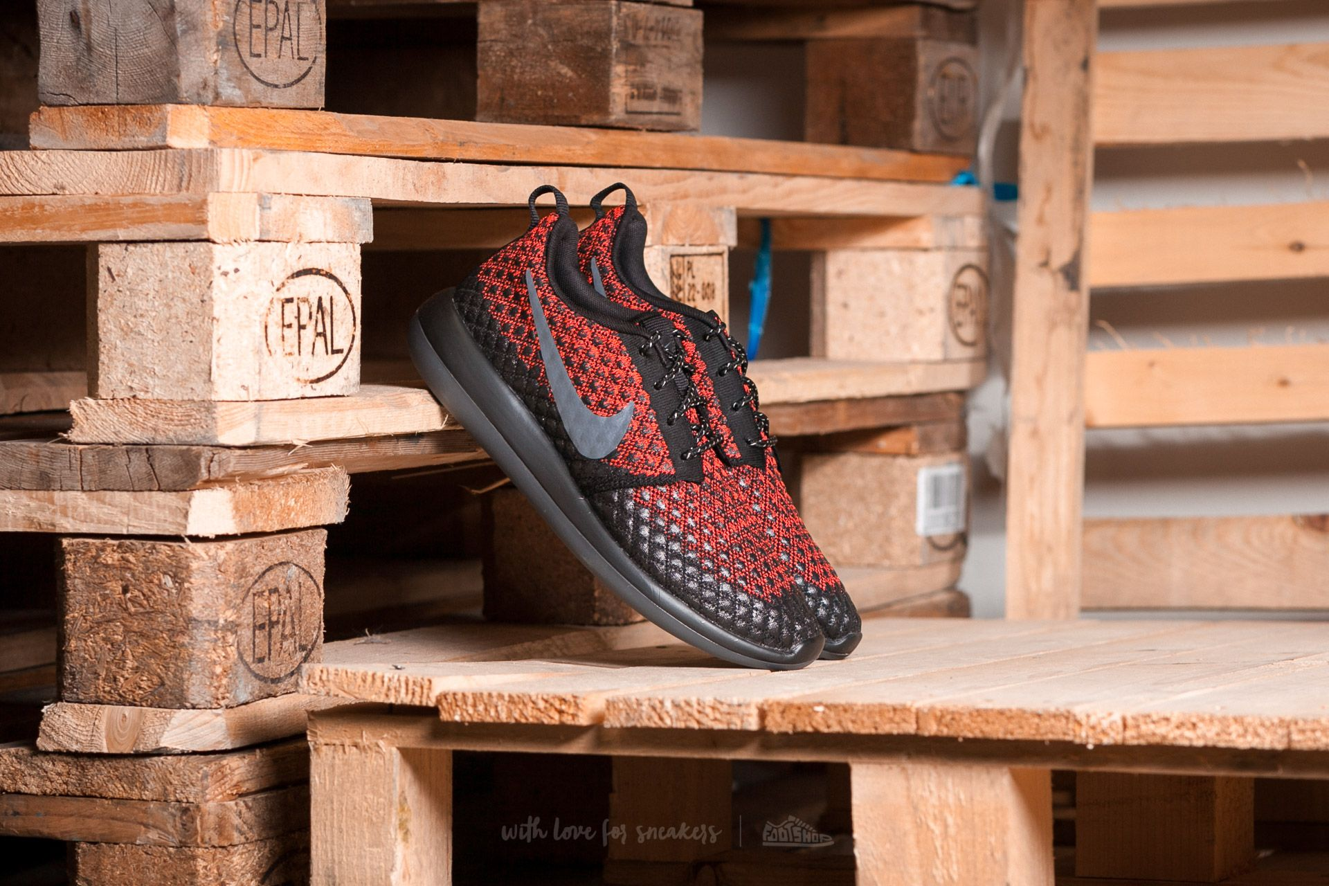 Nike Roshe Two Flyknit 365 Bright Crimson/ Dark Grey-Black Footshop – FR
