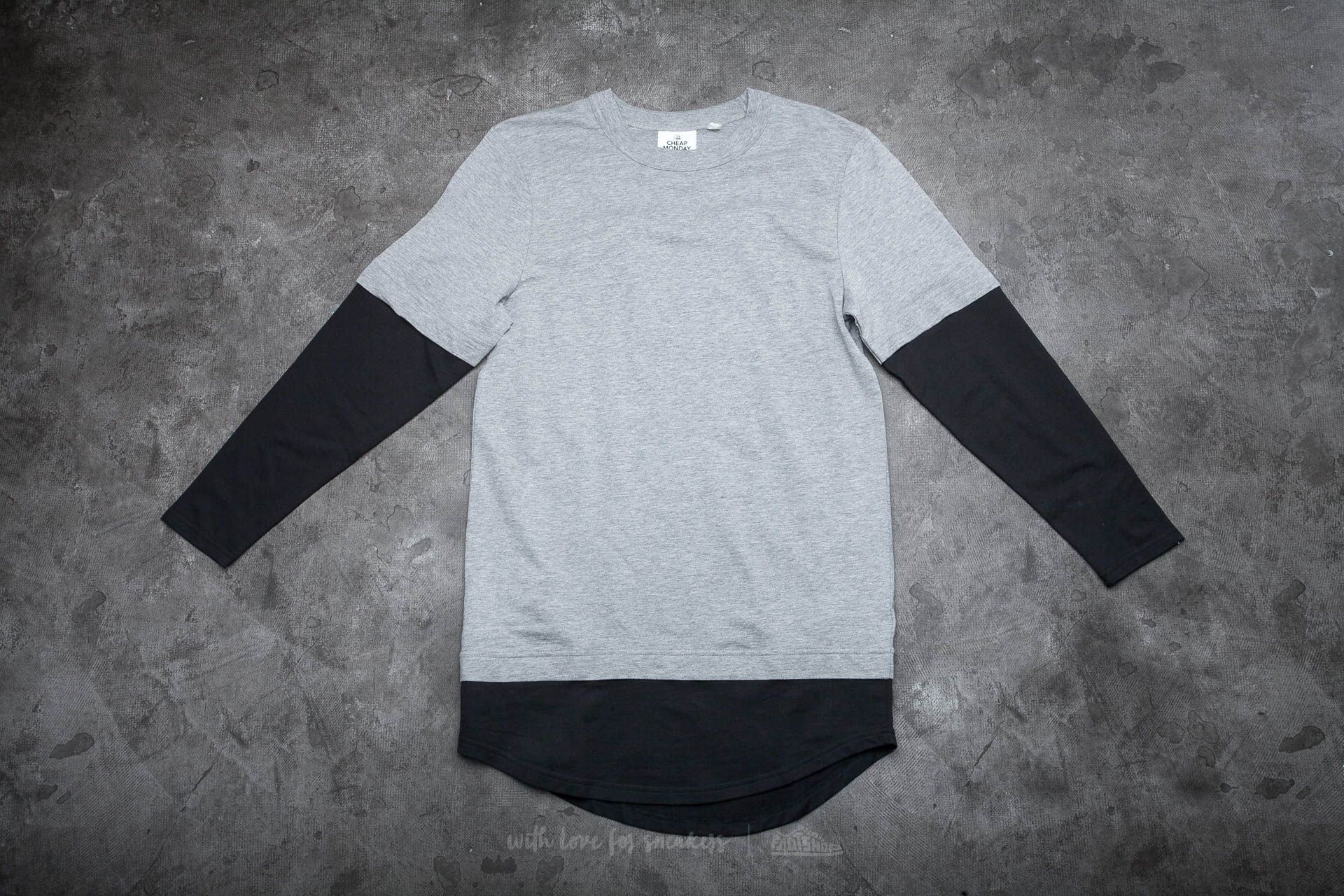 Cheap Monday Fake Long Sleeve Tee Grey Melange Footshop – FR