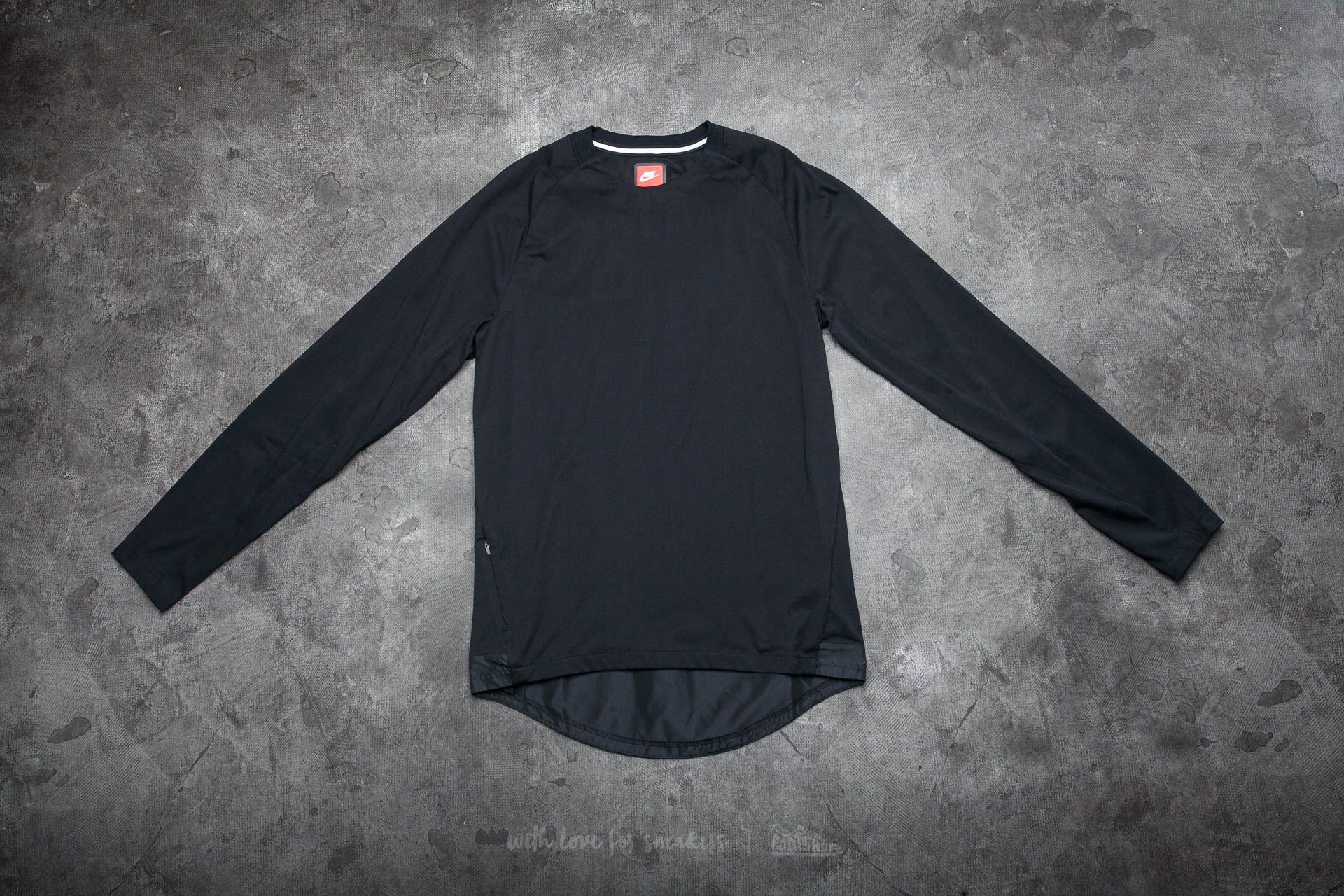 Nike Sportswear Bonded Men's Long Sleeve Top Black/ Black