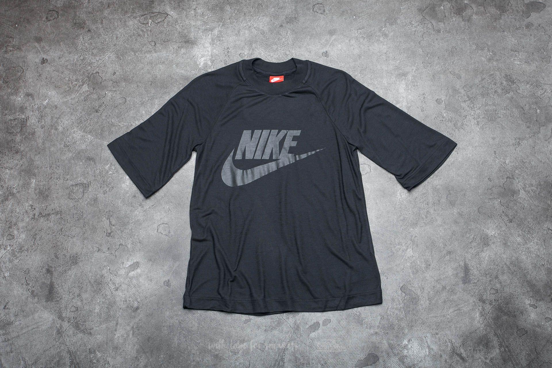 Nike Sportswear Women's 1/2 Sleeve Top Black/ Black