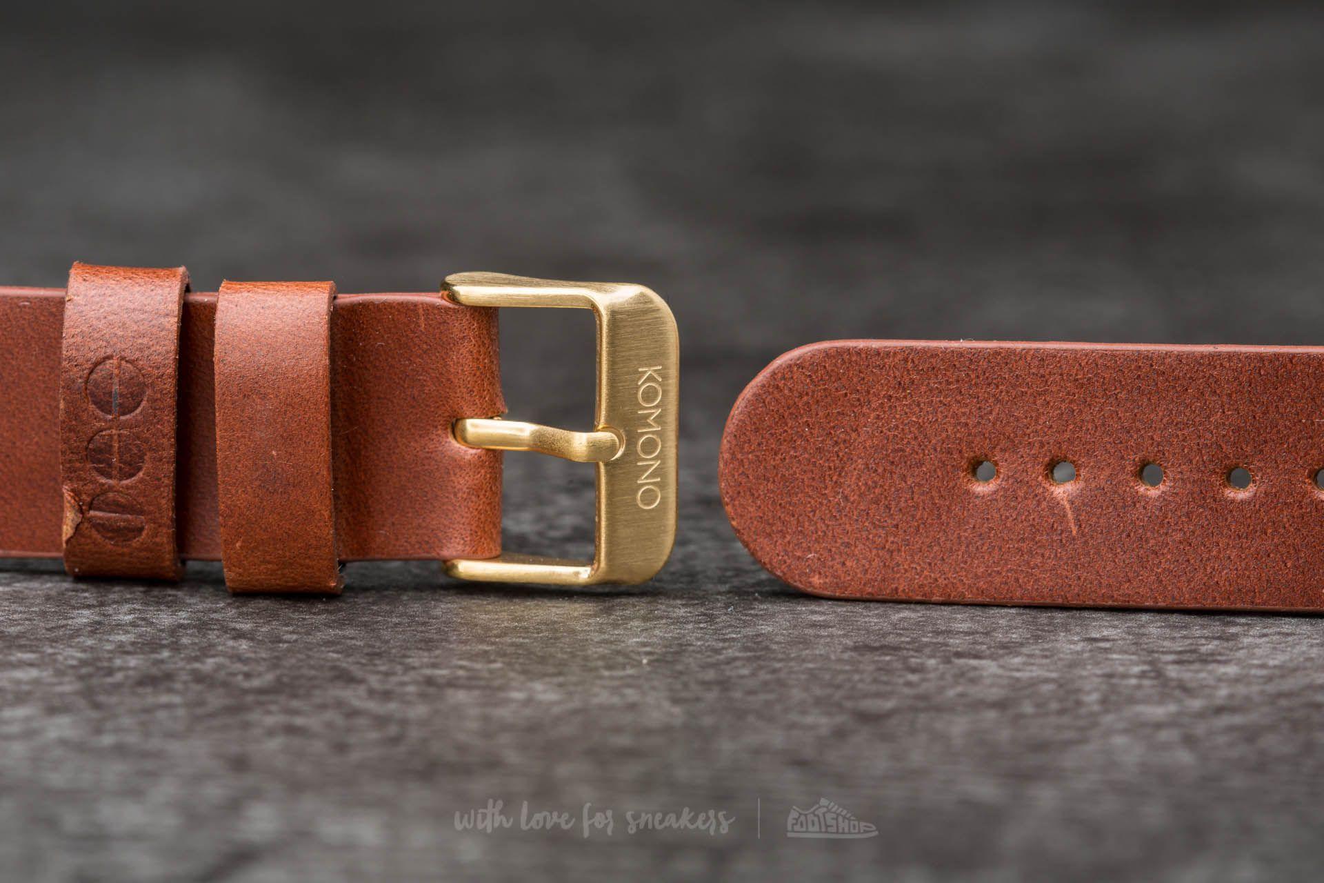 Komono Winston/ Walther Strap 20 Cognac Gold