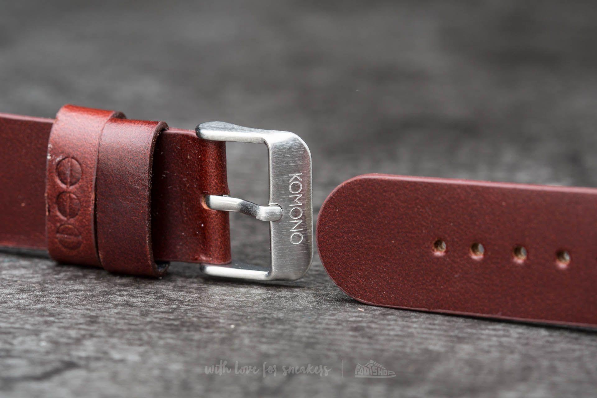 Komono Winston/ Walther Strap 20 Chestnut Silver
