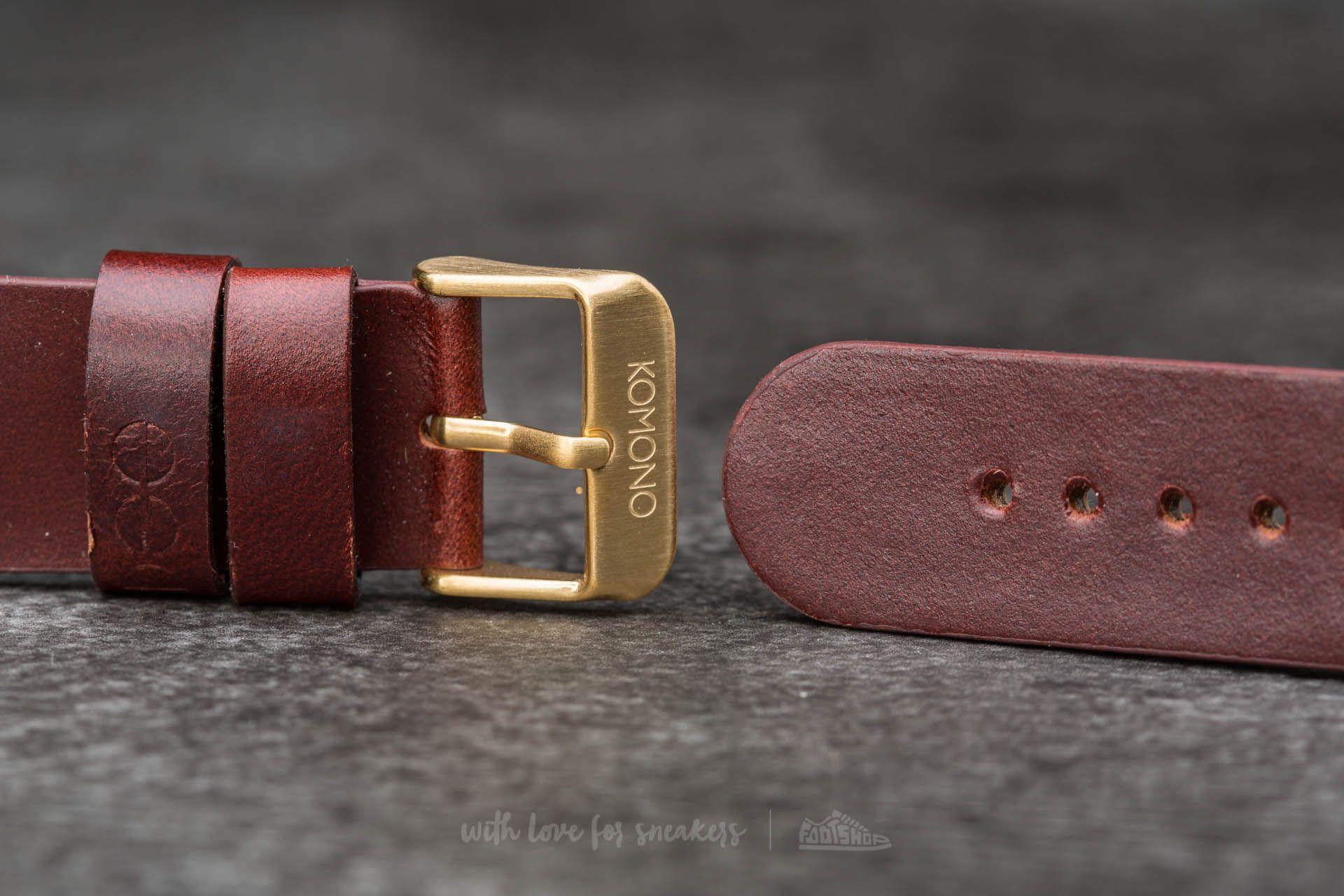 Komono Winston/ Walther Strap 20 Chestnut Gold
