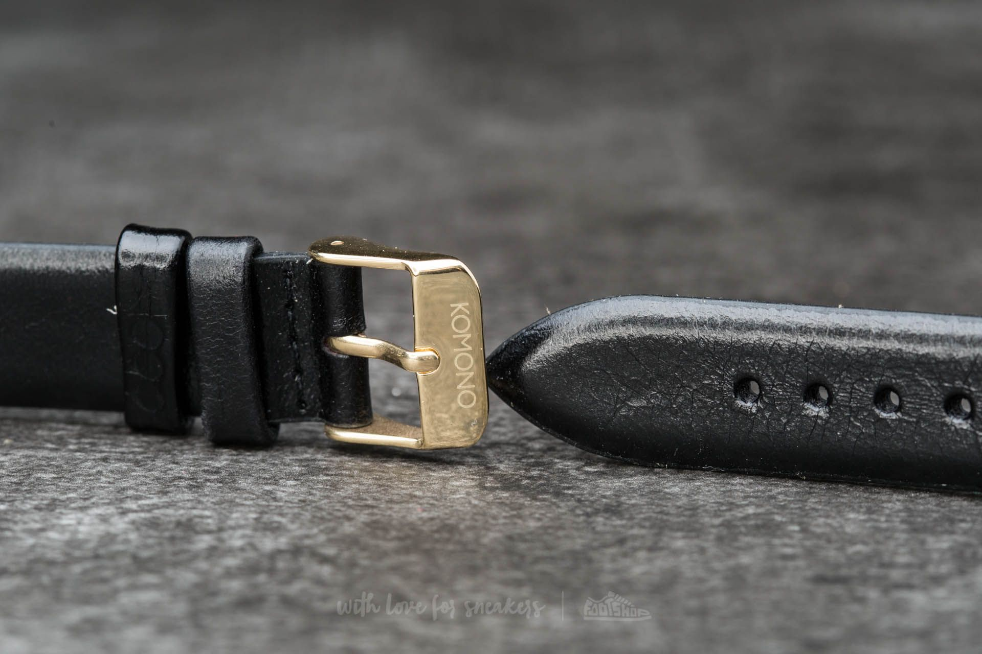 Komono Estelle Strap 16.5 Black Gold