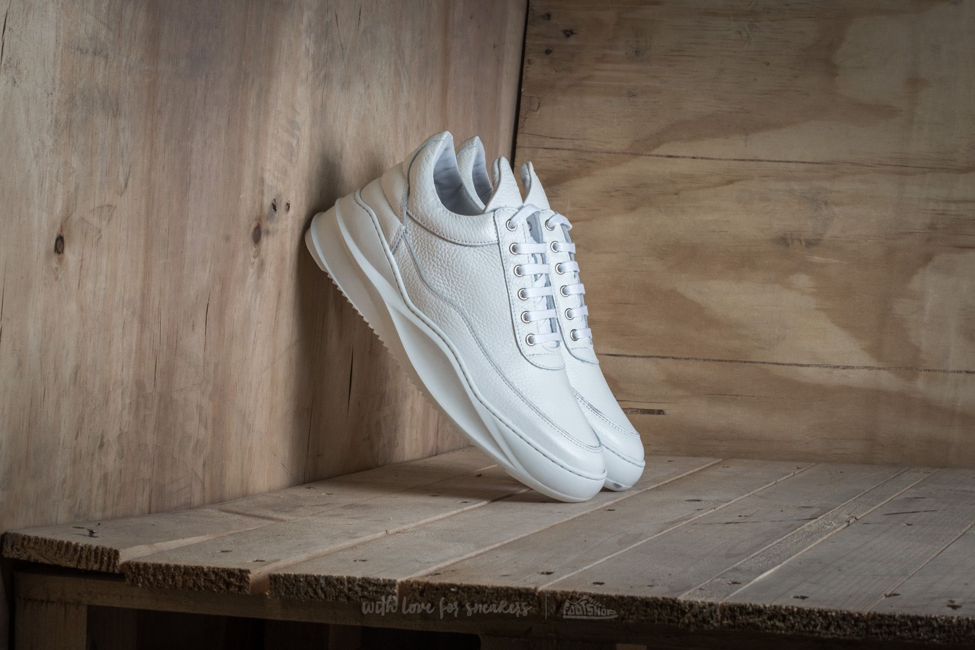 Filling Pieces Low Top Sky White
