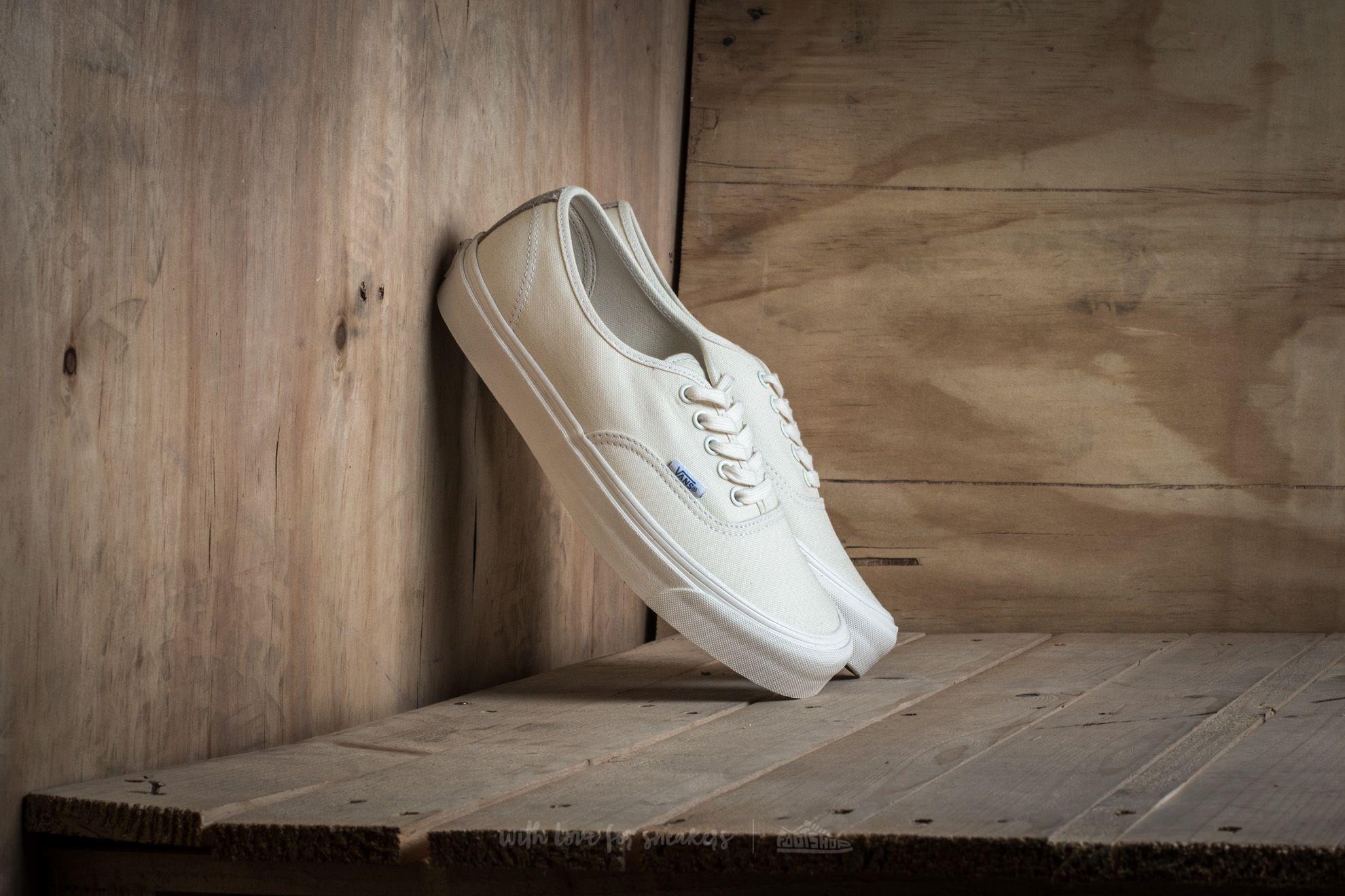 Vans OG Authentic LX (Canvas/ Suede) Classic White/ Safari