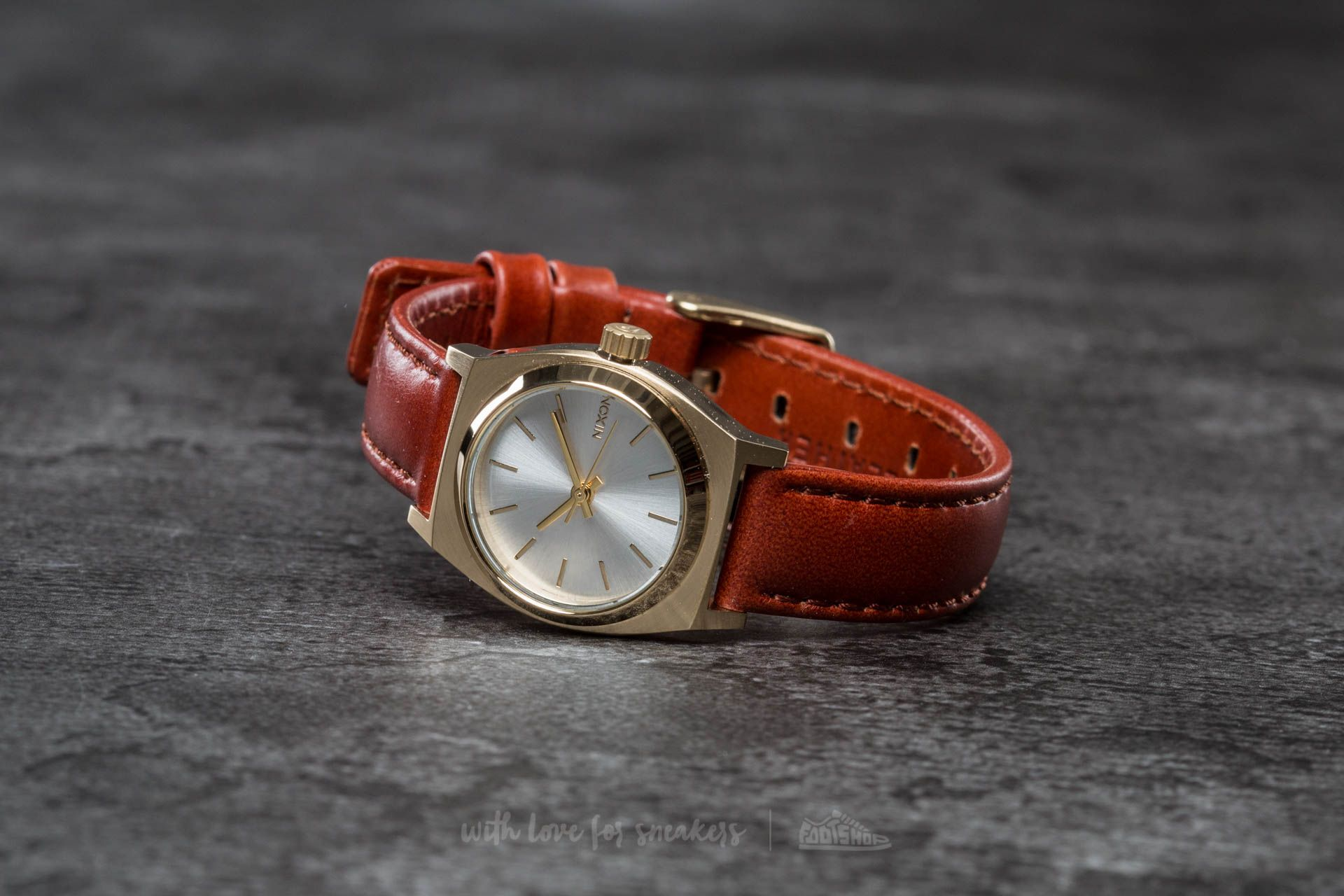 Nixon Time Teller Leather All Rose Gold