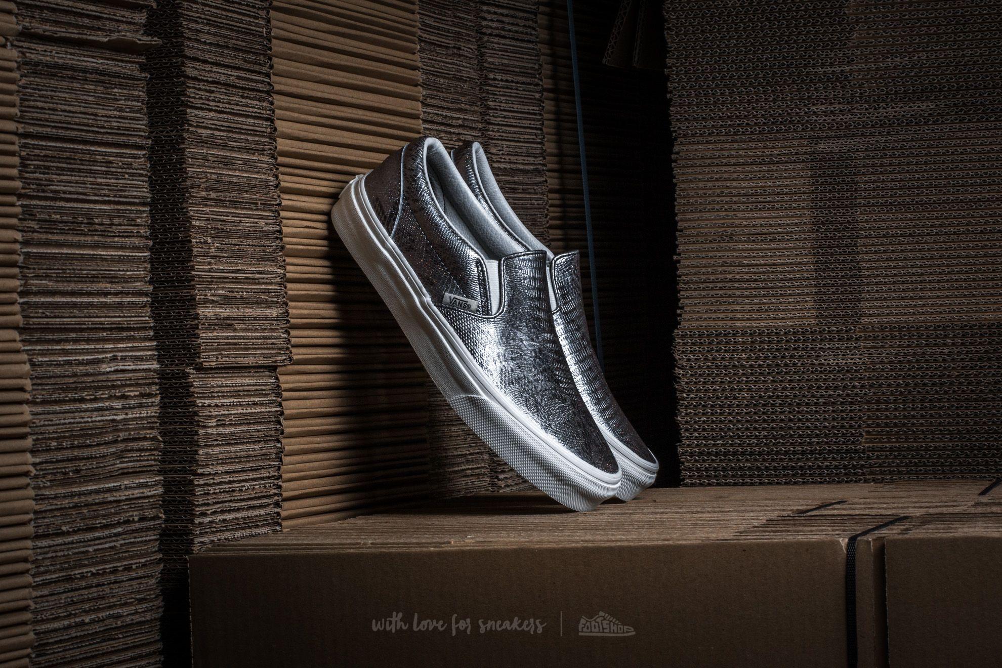 Vans Classic Slip-On (Disco Python) Black/ Blanc de Blanc