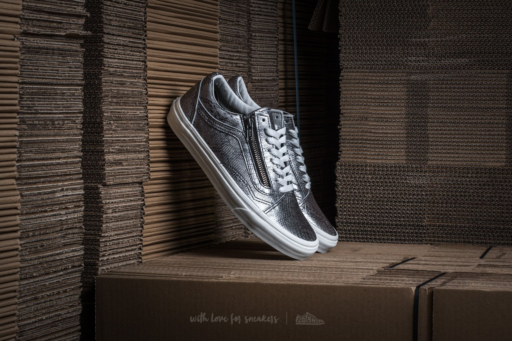 Vans Old Skool Zip (Disco Python) Black/ Blanc de Blanc Footshop – FR