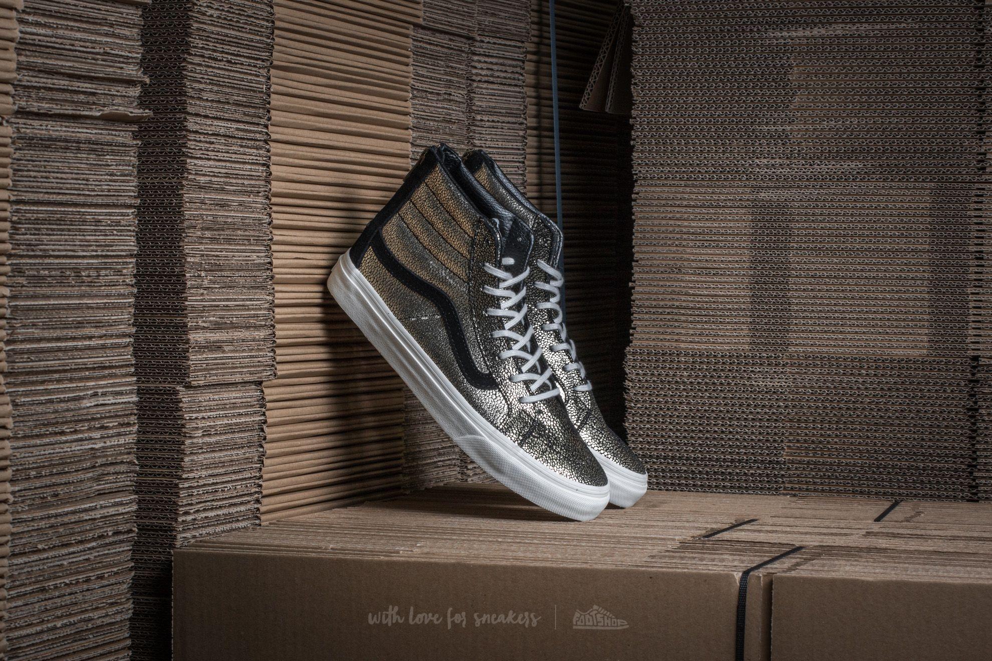 Vans Sk8-Hi Slim Zip (Gold Dots) Gold/ Blanc De Blanc Footshop – FR