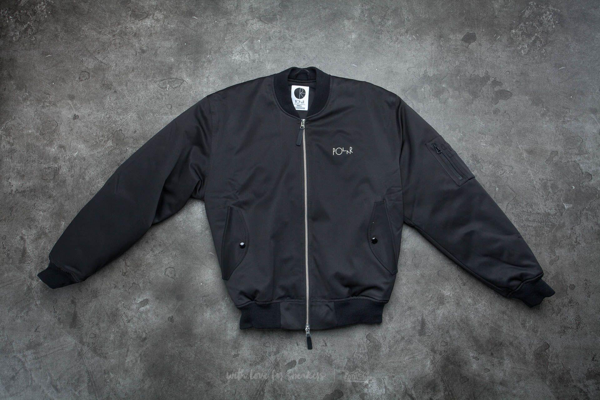 Polar Skate Co. Bomber Jacket Black