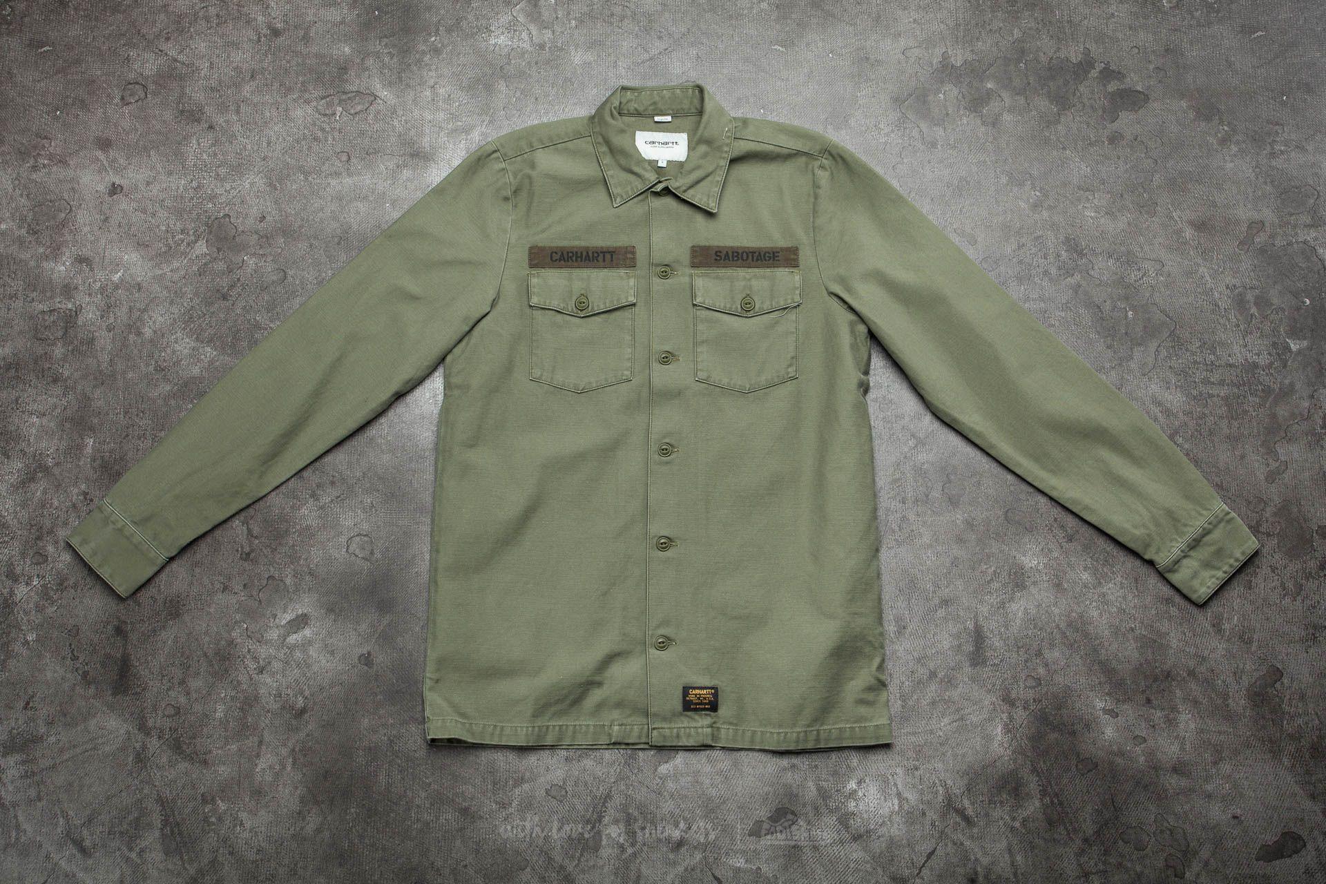 Carhartt WIP Long Sleeve Arrow Shirt Rover Green/ Black Stone Washed