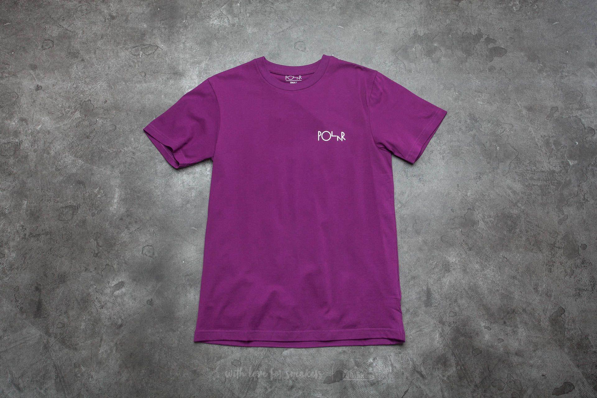 Polar Skate Co. Stroke Logo Tee Deep Purple