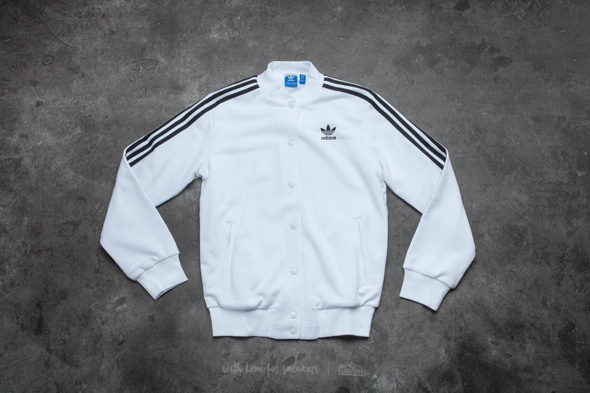 adidas 3 Stripes Bomber White