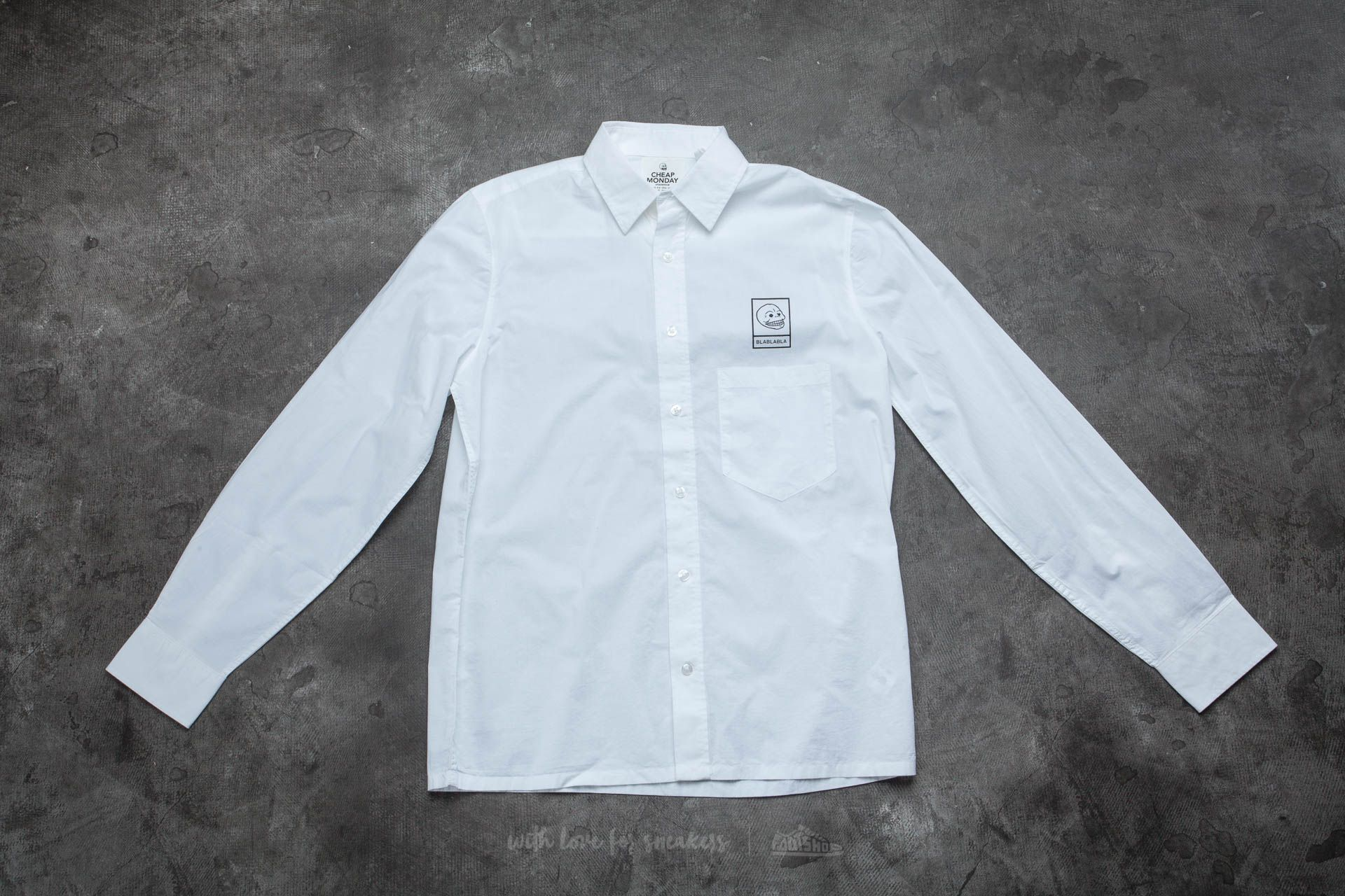 Cheap Monday Squared Shirt White