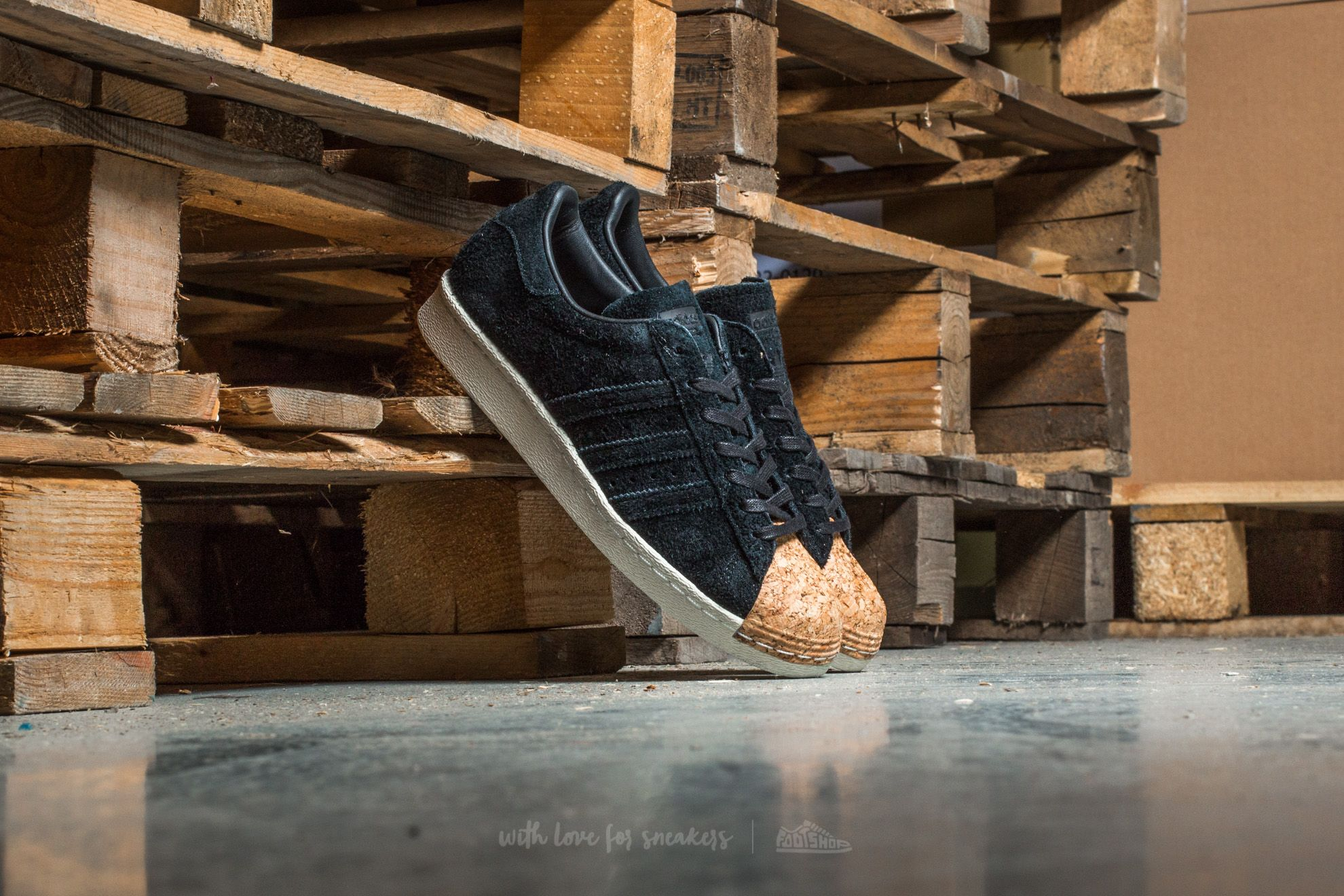 adidas Superstar 80s Cork W Core Black/ Core Black/ Off White