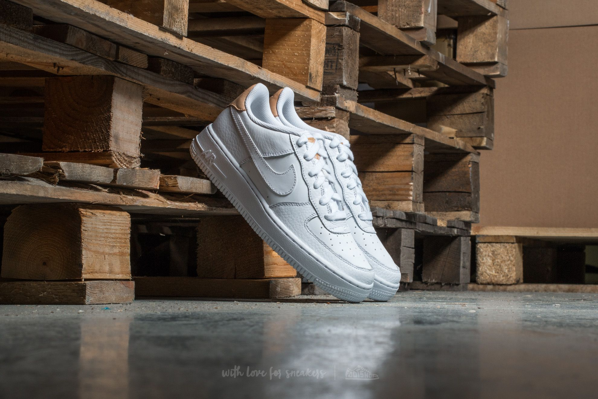 Nike Air Force 1 LV8 (GS) White/ White-Gum Light Brown Footshop – FR