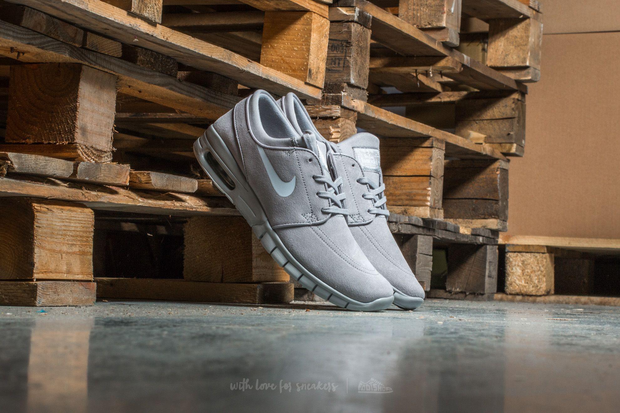 Nike Stefan Janoski Max L Matte Silver/ Pure Platinum