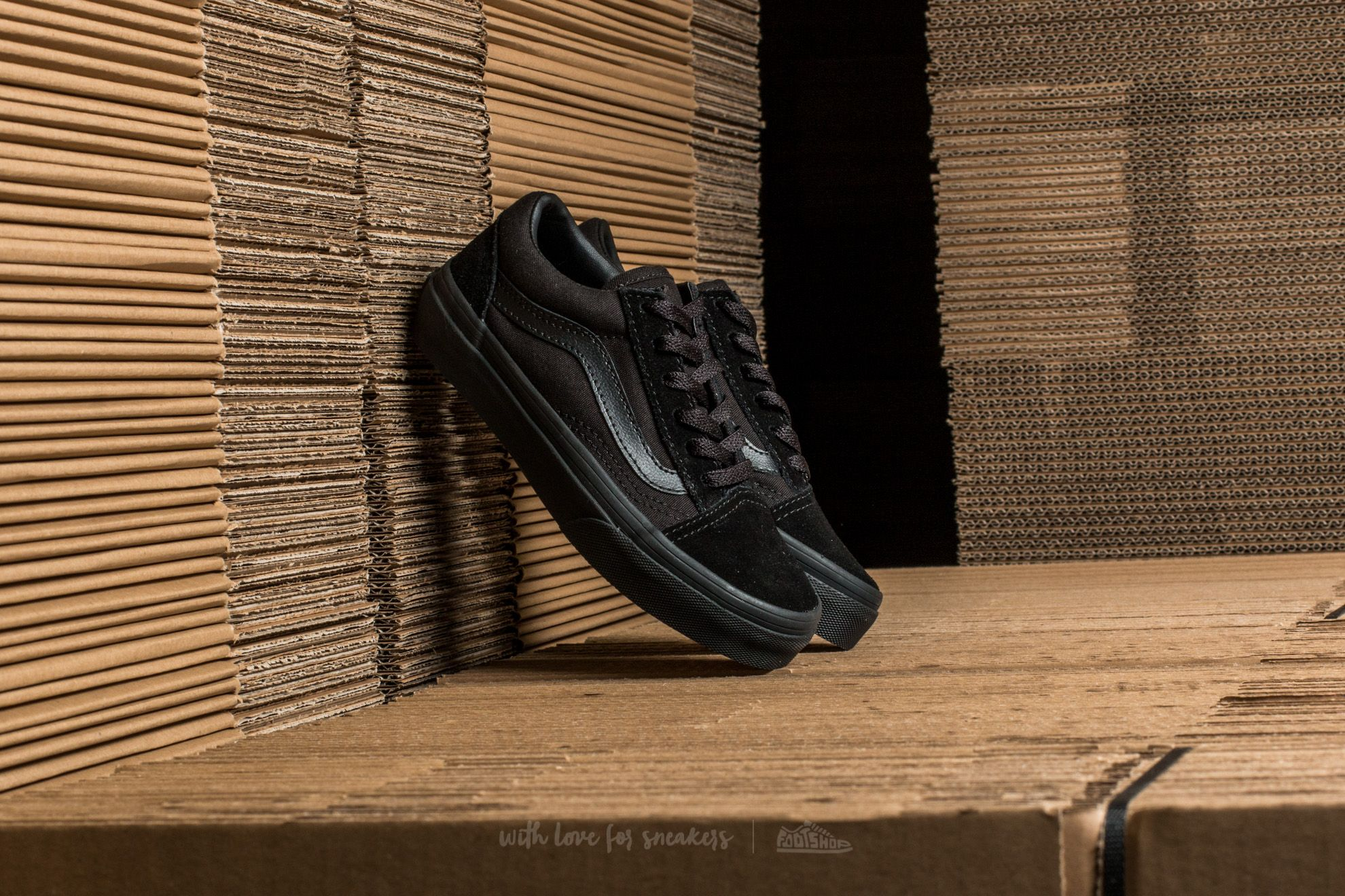 Vans Old Skool Black/ Black Footshop – FR