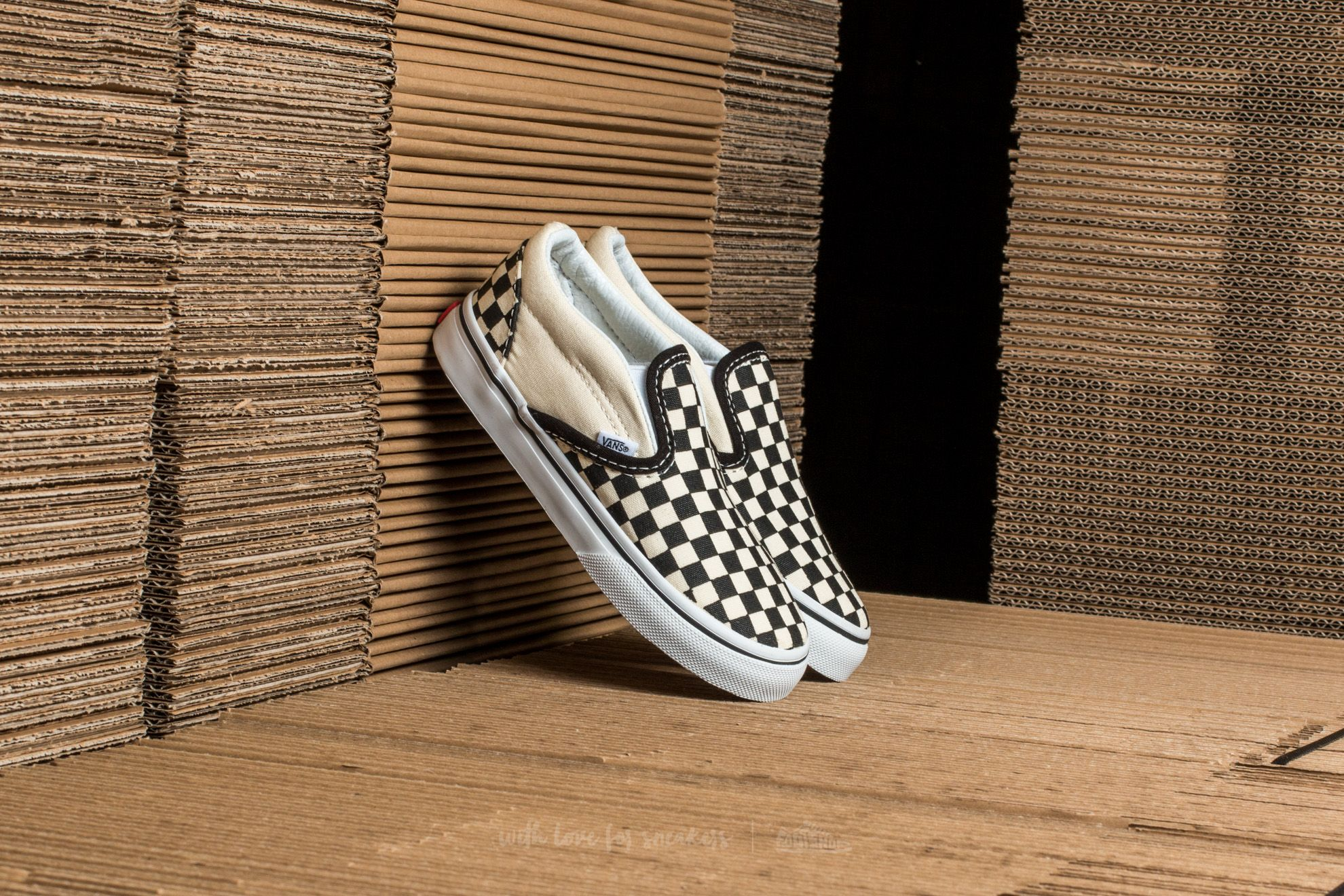 Vans T Classic Slip-On Black&White Checkerboard/ White Footshop – FR
