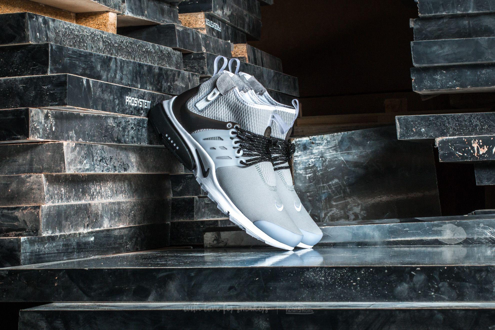 Nike Air Presto Mid Utility Dark Grey/ Max Orange-Black