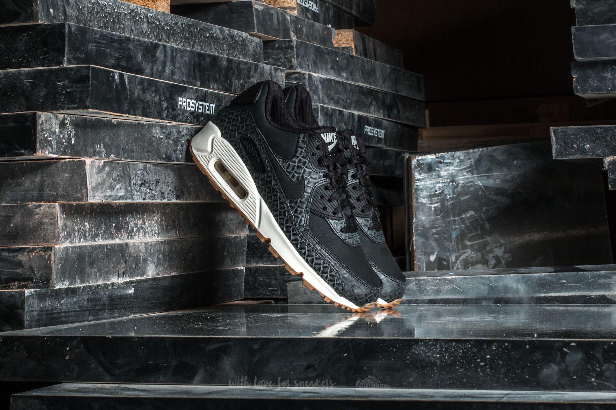 Nike Wmns Air Max 90 Premium Black/ Black-Sail-Gum Medium Brown