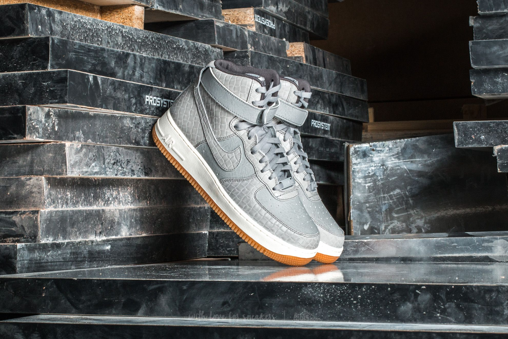 Nike Wmns Air Force 1 Hi Premium Wolf Grey/ Wolf Grey