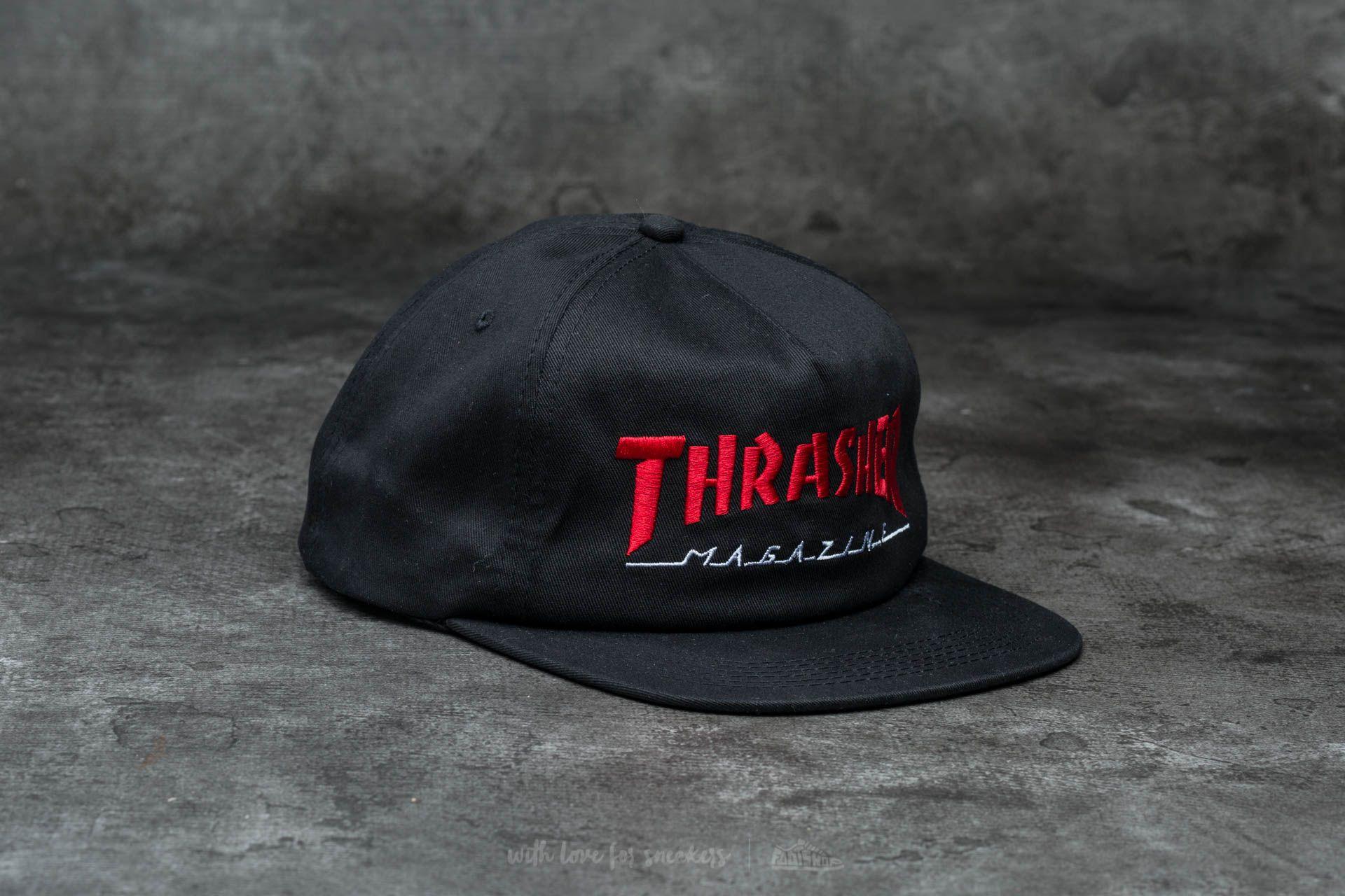 Thrasher Magazine Logo Two-Tone Hat Black/ Red
