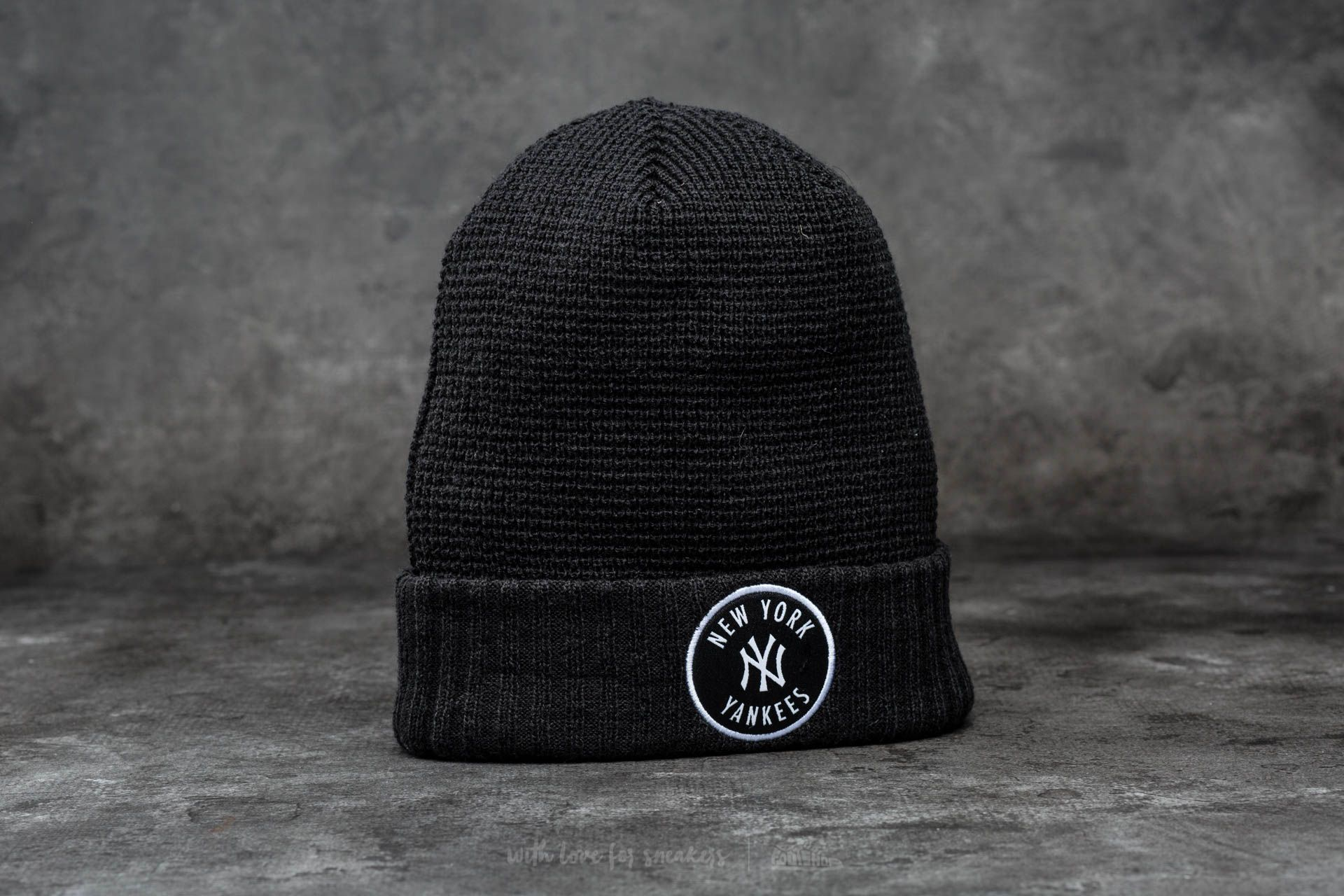 New Era Emblem Waffle Knit MLB New York Yankees Black Footshop – FR