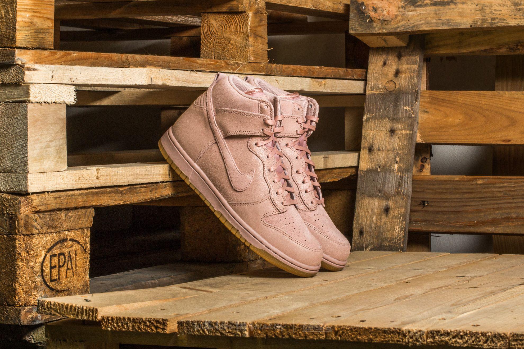 Nike W Dunk Hi Premium Pink Oxford/ Pink Oxford