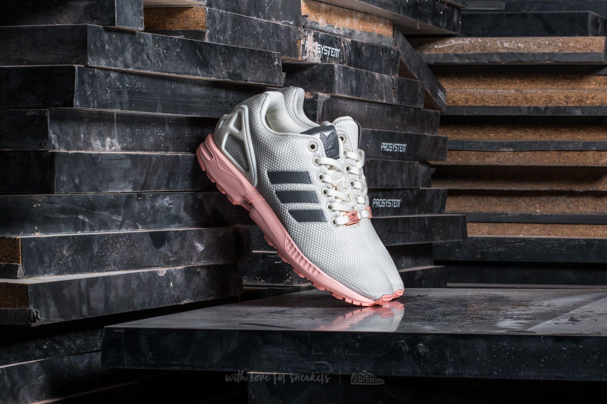 adidas ZX Flux W Ftw White/ Metallic Silver/ Haze Coral