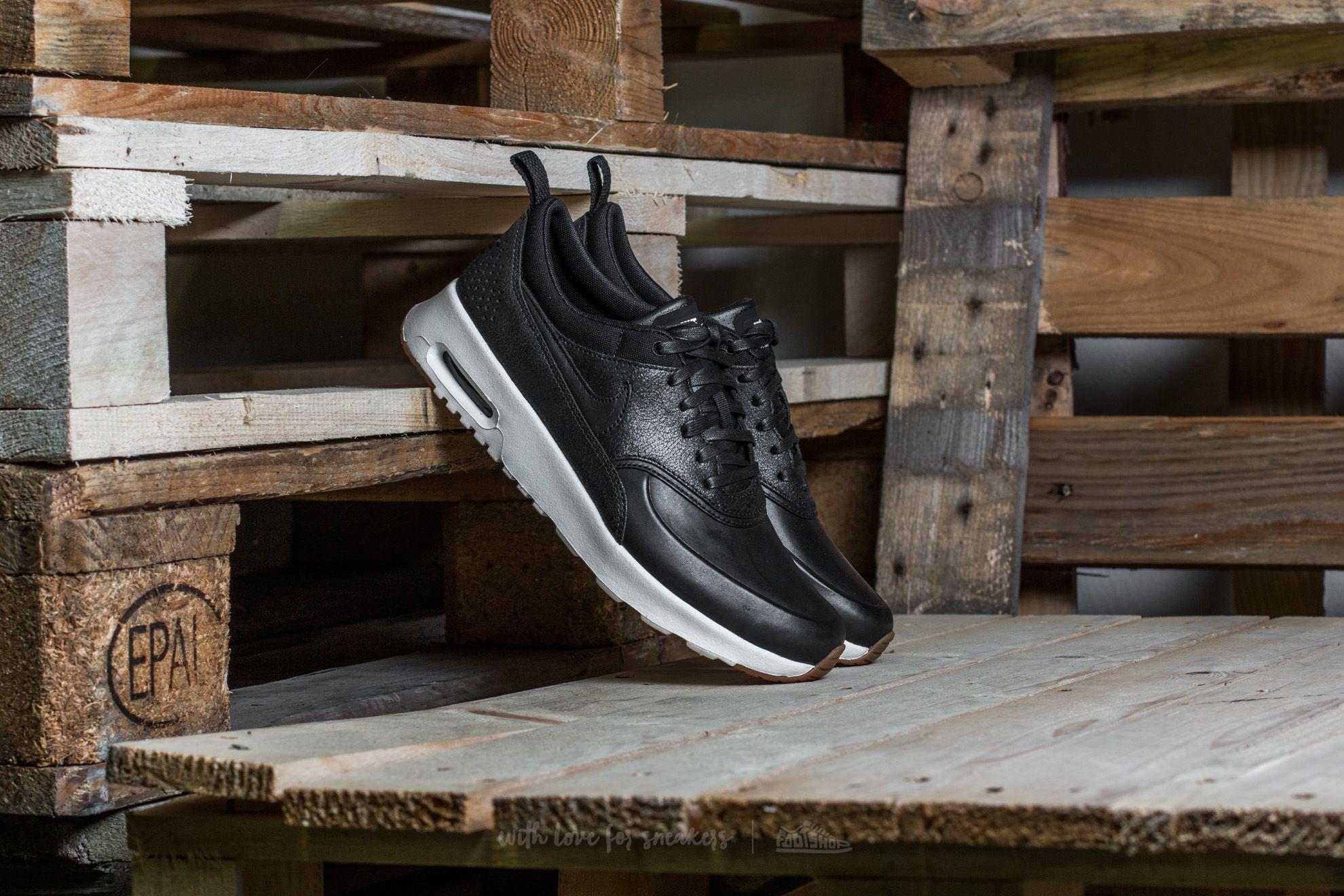 Nike Wmns Air Max Thea Premium Black/ Black-Sail-Gum Medium Brown