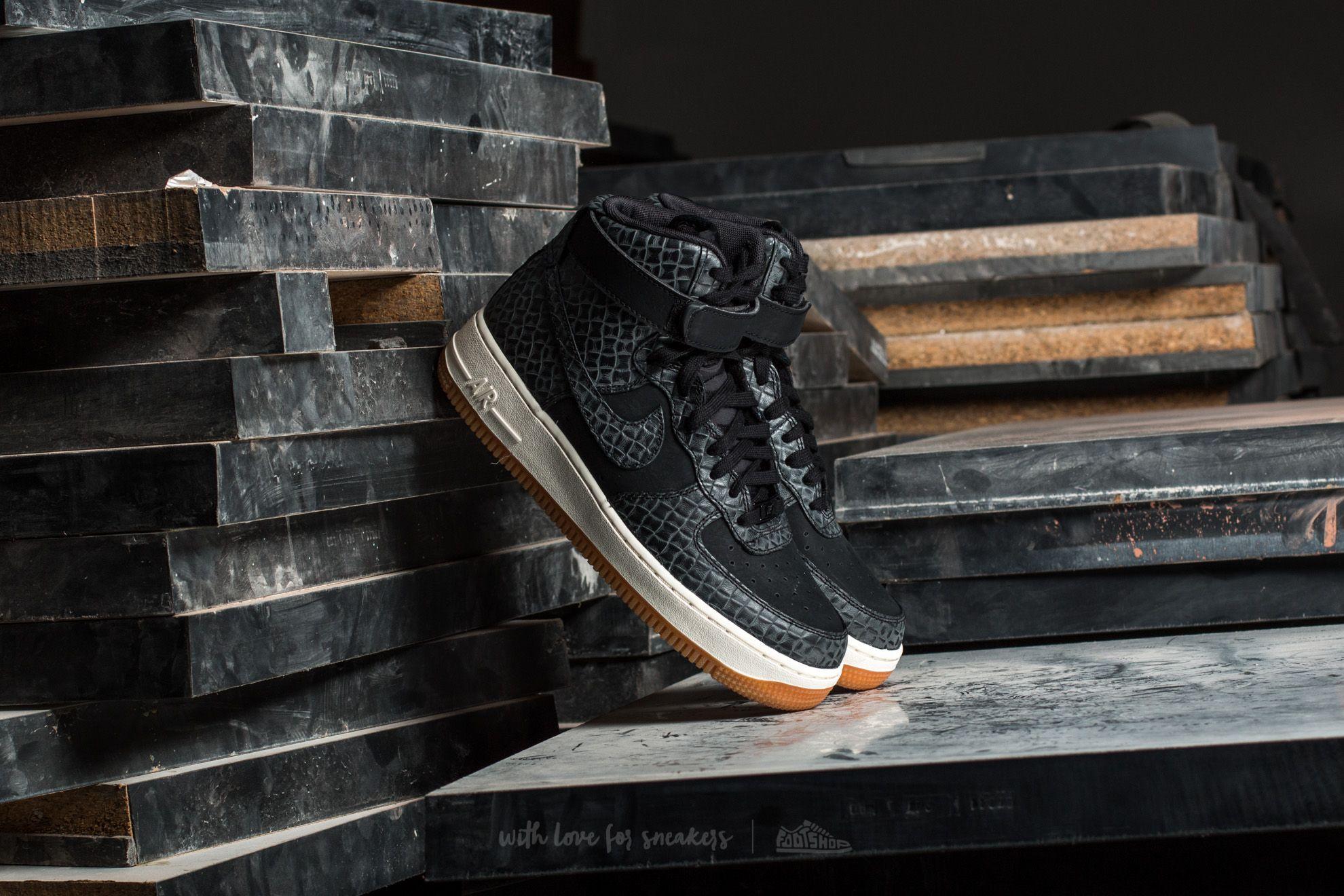 Nike Wmns Air Force 1 Hi Premium Black/ Black-Gum Med Brown-Sail Footshop – FR