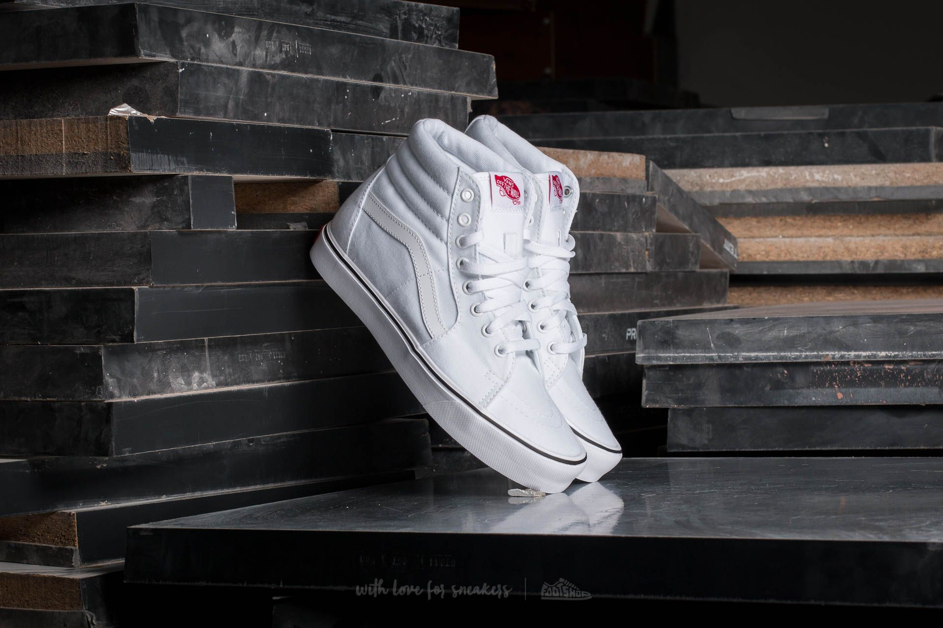 Vans Sk8-Hi Lite (Canvas) True White